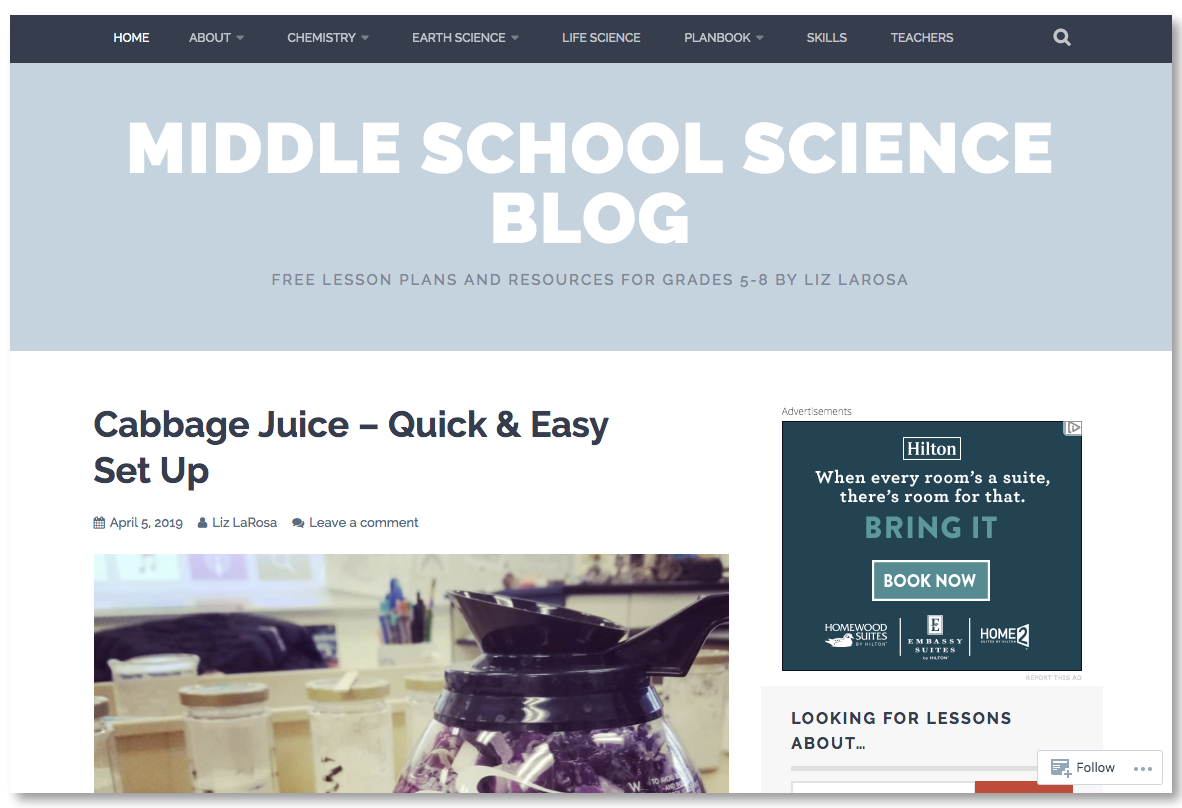 Middle School Science Blog