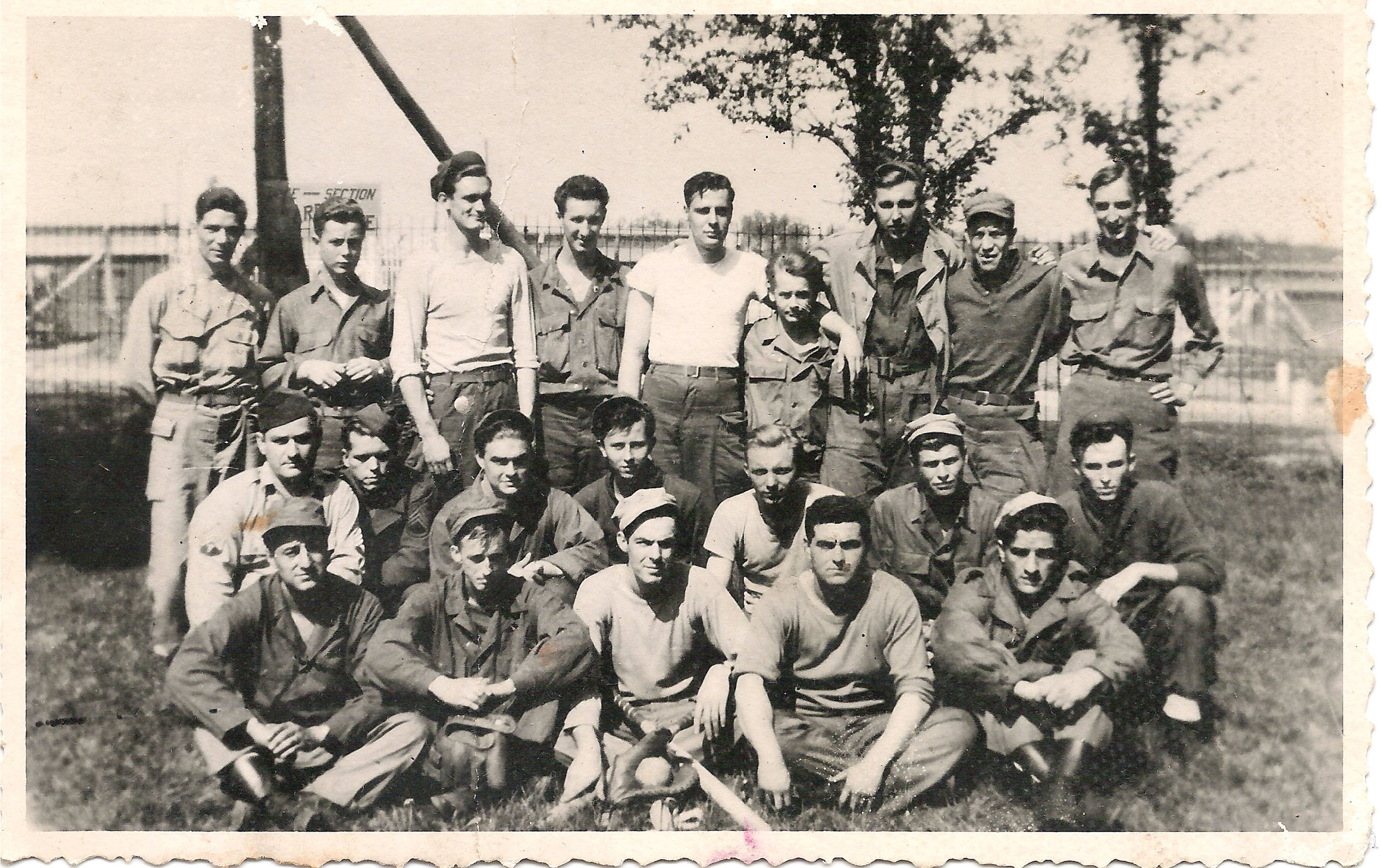 Ball team at Delta Base Section