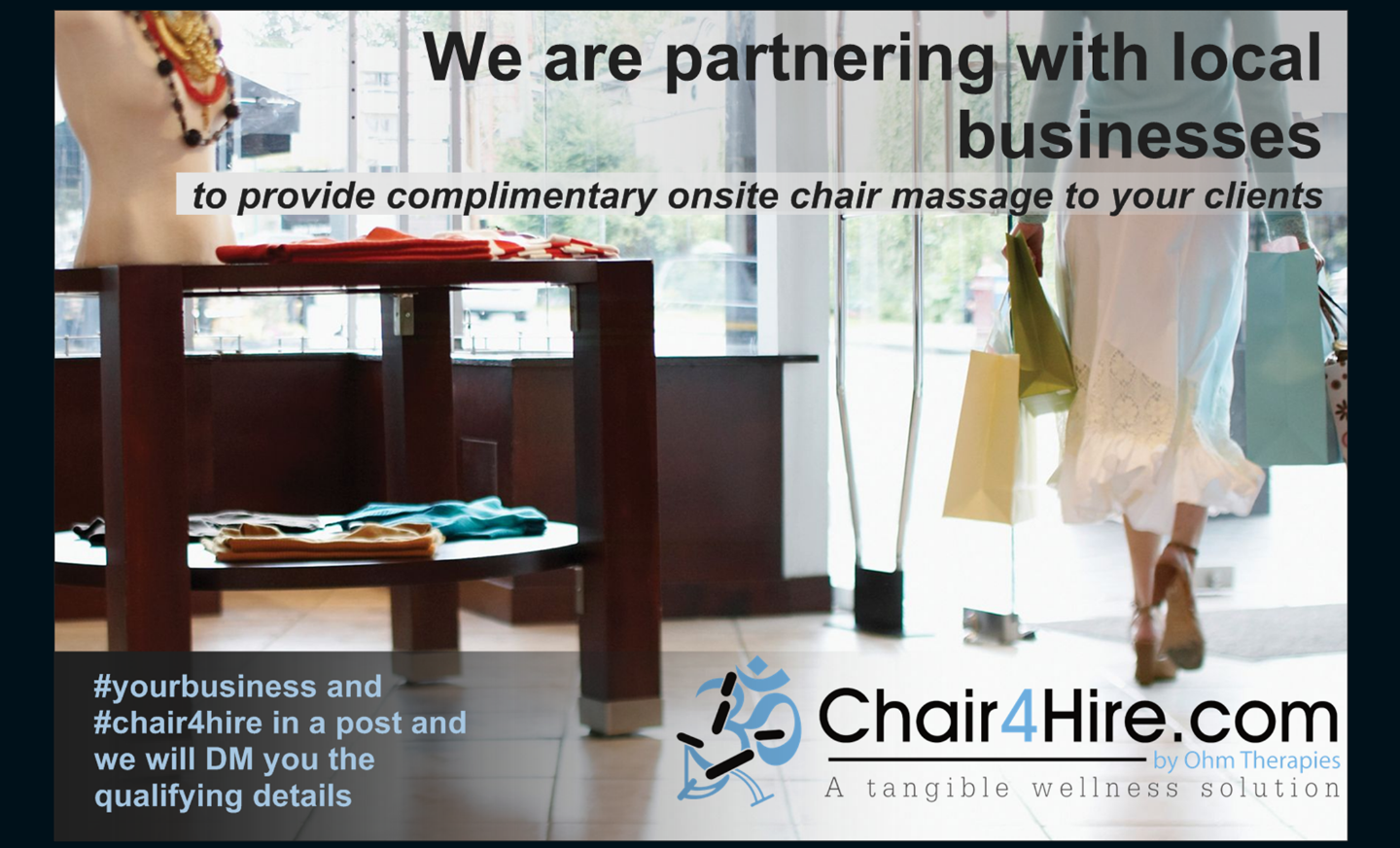 Chair4Hire partnering with local businesses