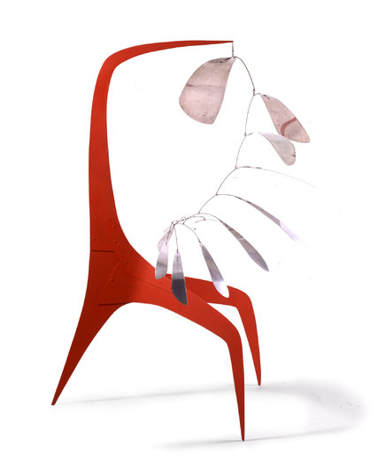 "Alexander Calder. ""Aluminum Leaves, Red Post"" (1941). 2017 Calder Foundation, New York/Artists Rights Society (ARS), New York"