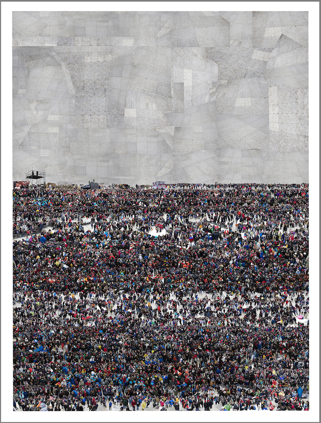 Felix R. Cid  Untitled (Trump Inauguration) , 2017 Digital Pigment Print 63 by 86 inches  Edition of 5 Courtesy of the artist and Garis & Hahn
