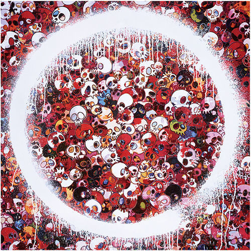 Enso Memento Mori Red, 2016. Offset lithograph. 26 77/100 × 26 77/100 in 68 × 68 cm