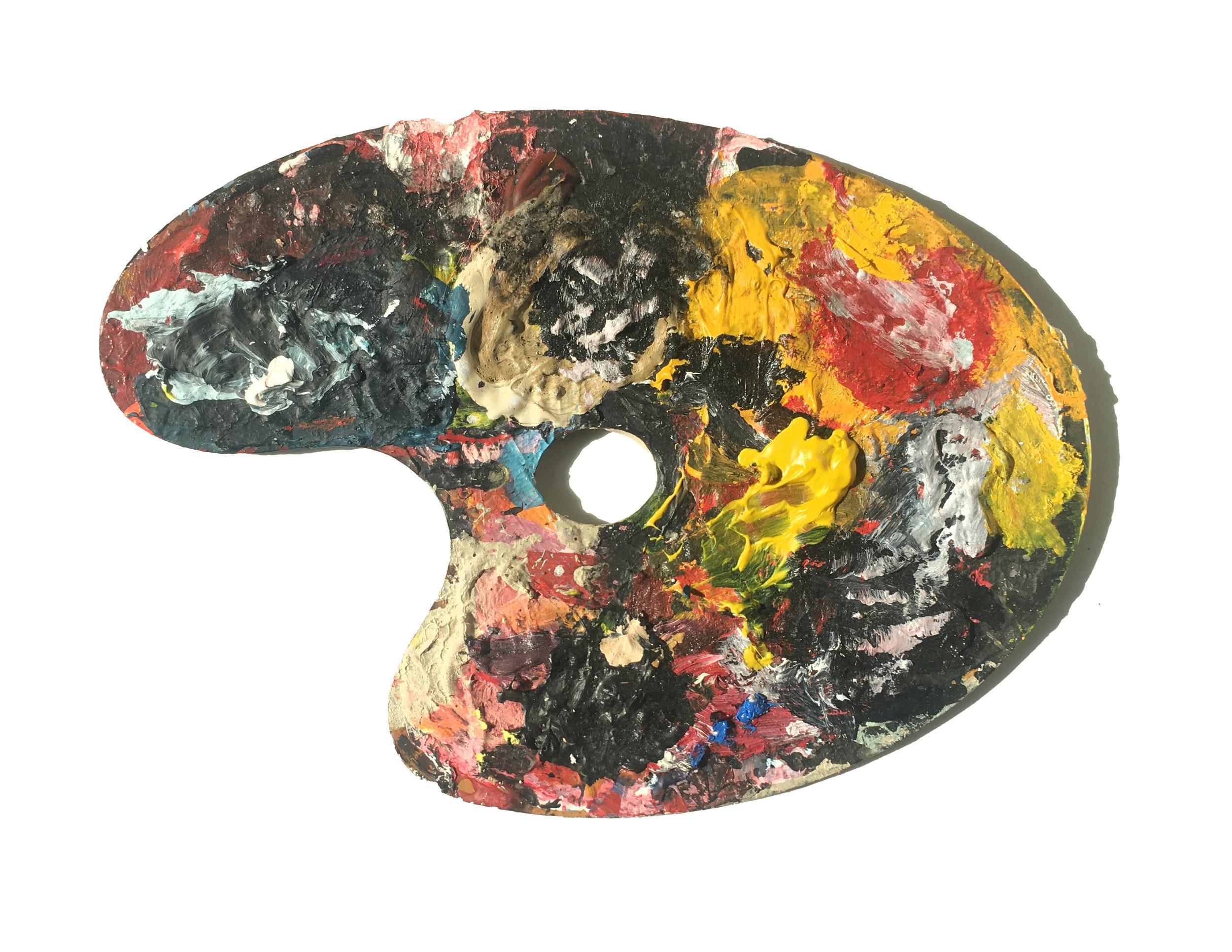 Artist   Sang Woo Kim's palette