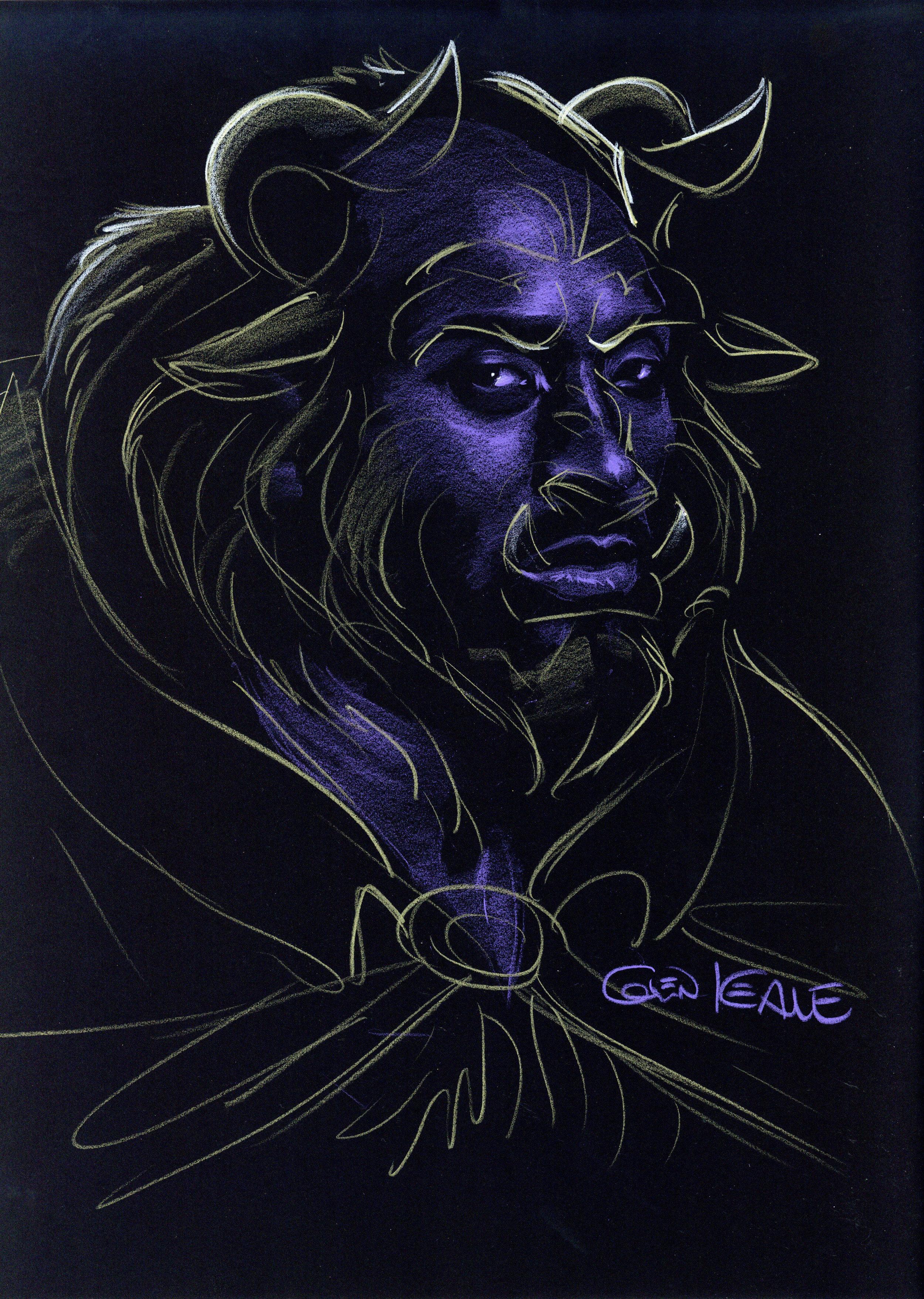 Kobe Bryant | Photographed by Ian Morrison | Illustrated as  Beast  by Glen Keane