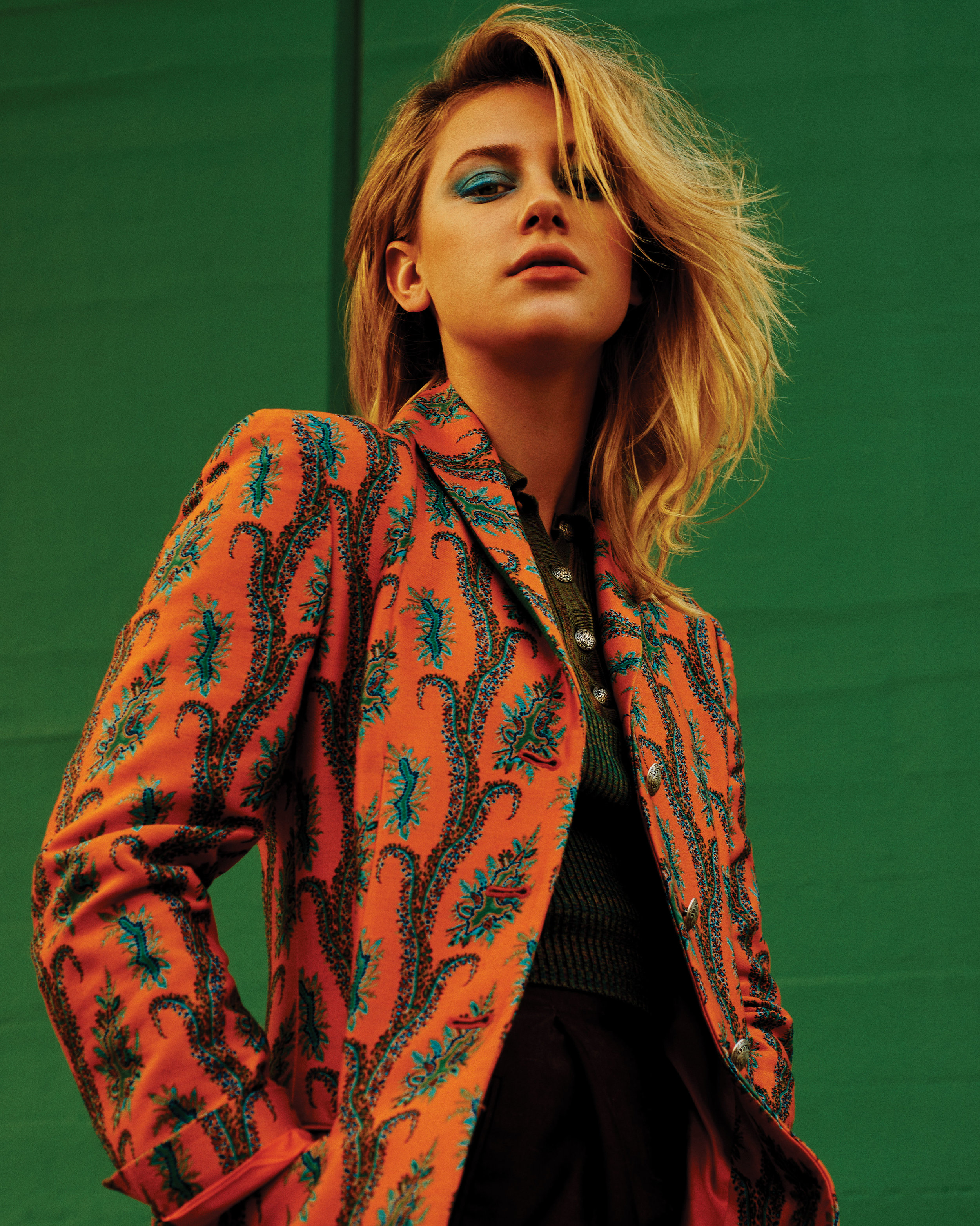 ETRO  jacket, top, and pants.