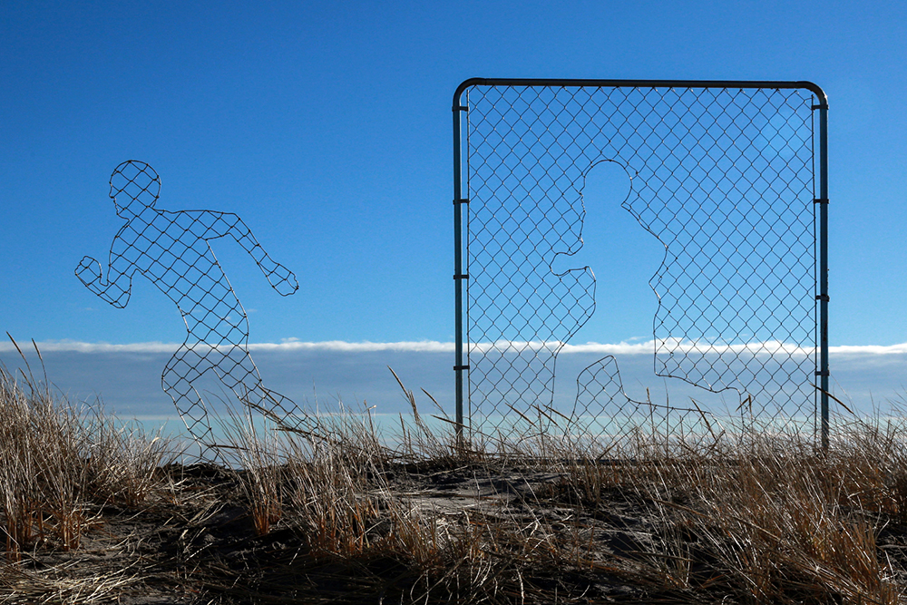Icy & Sot.  Fence Installation . Image supplied Icy & Sot, c/o Moniker Installation Artists