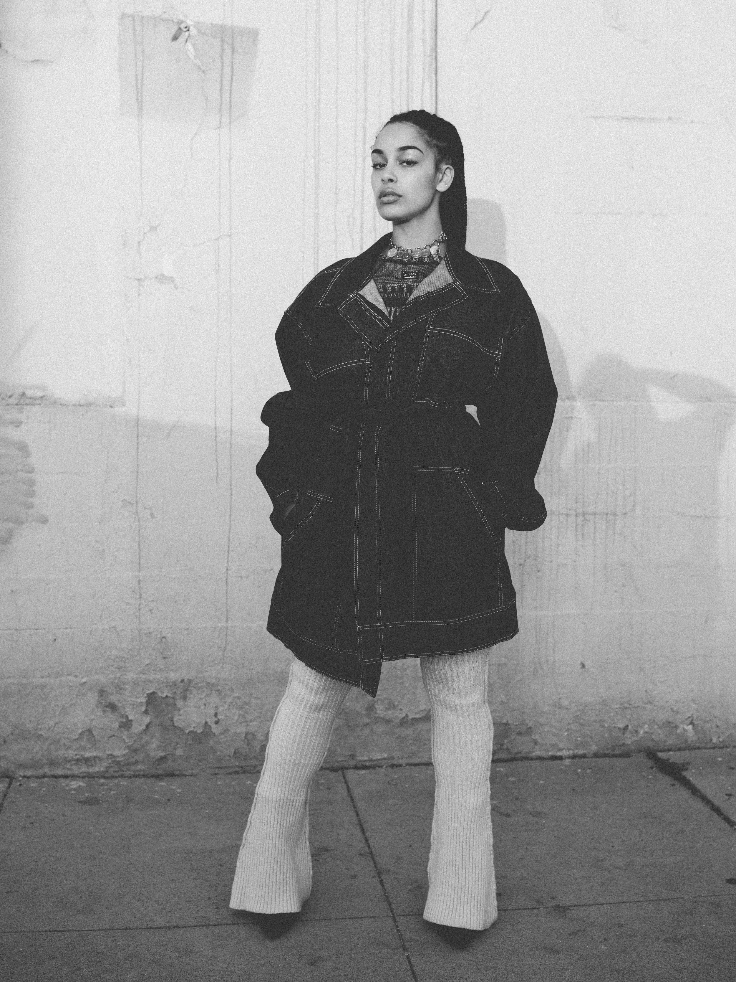 LA ROXX jacket,KNORTS top and pants,UNRAVEL shoes,HARDWARE LDNbelt, and Vintage necklace available at Squaresville, LA.