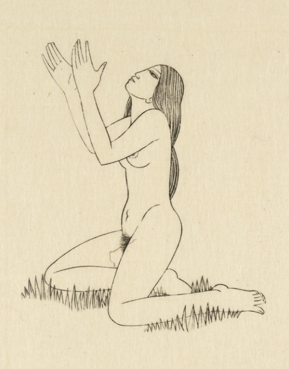 """""""Earth Waiting"""" by Eric Gill, wood engraving on paper (1926)"""