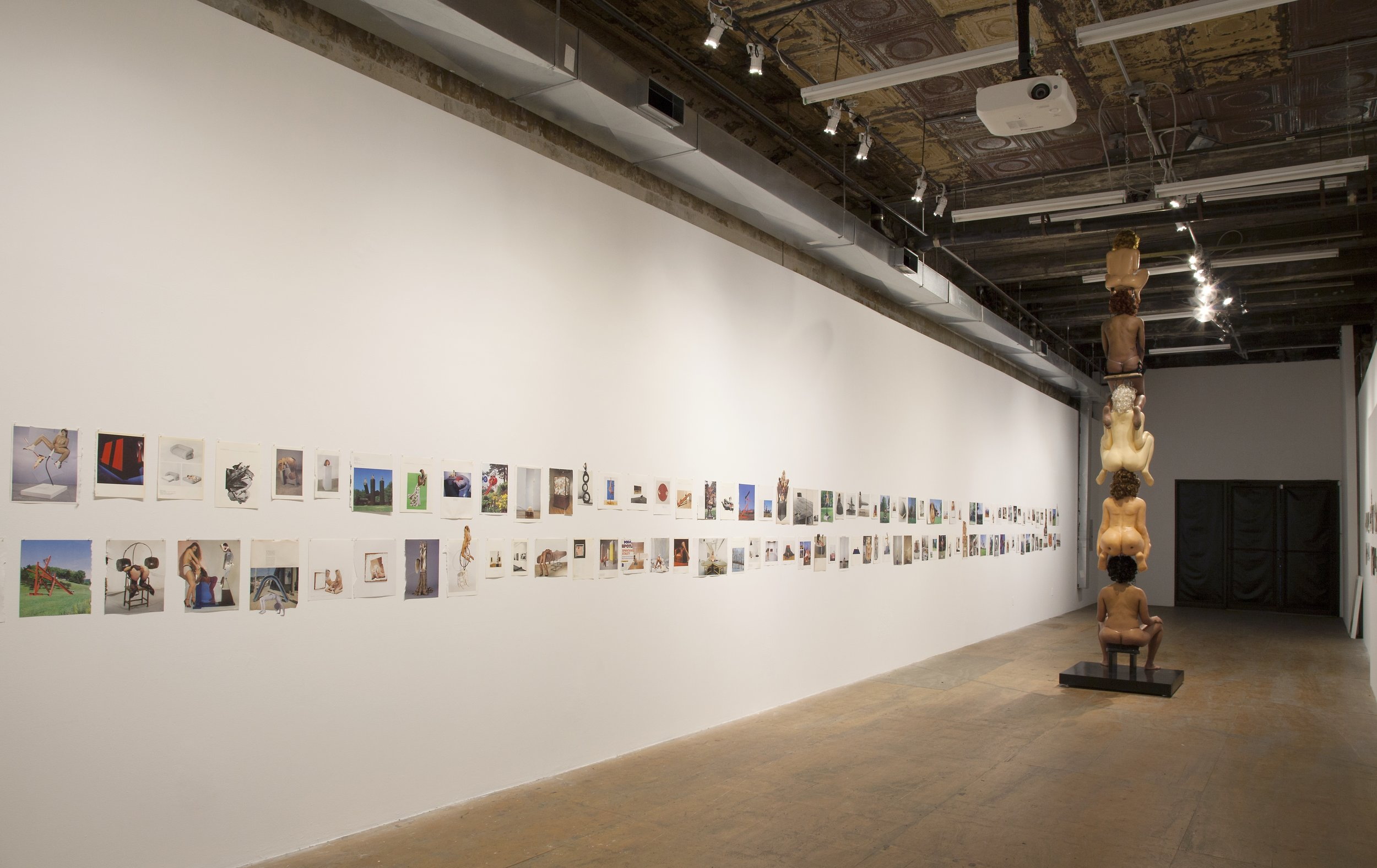 """Narcissister.Installation view of """"Studies for Participatory Sculptures"""" at Participant Inc.Photo by Mark Waldhauser."""