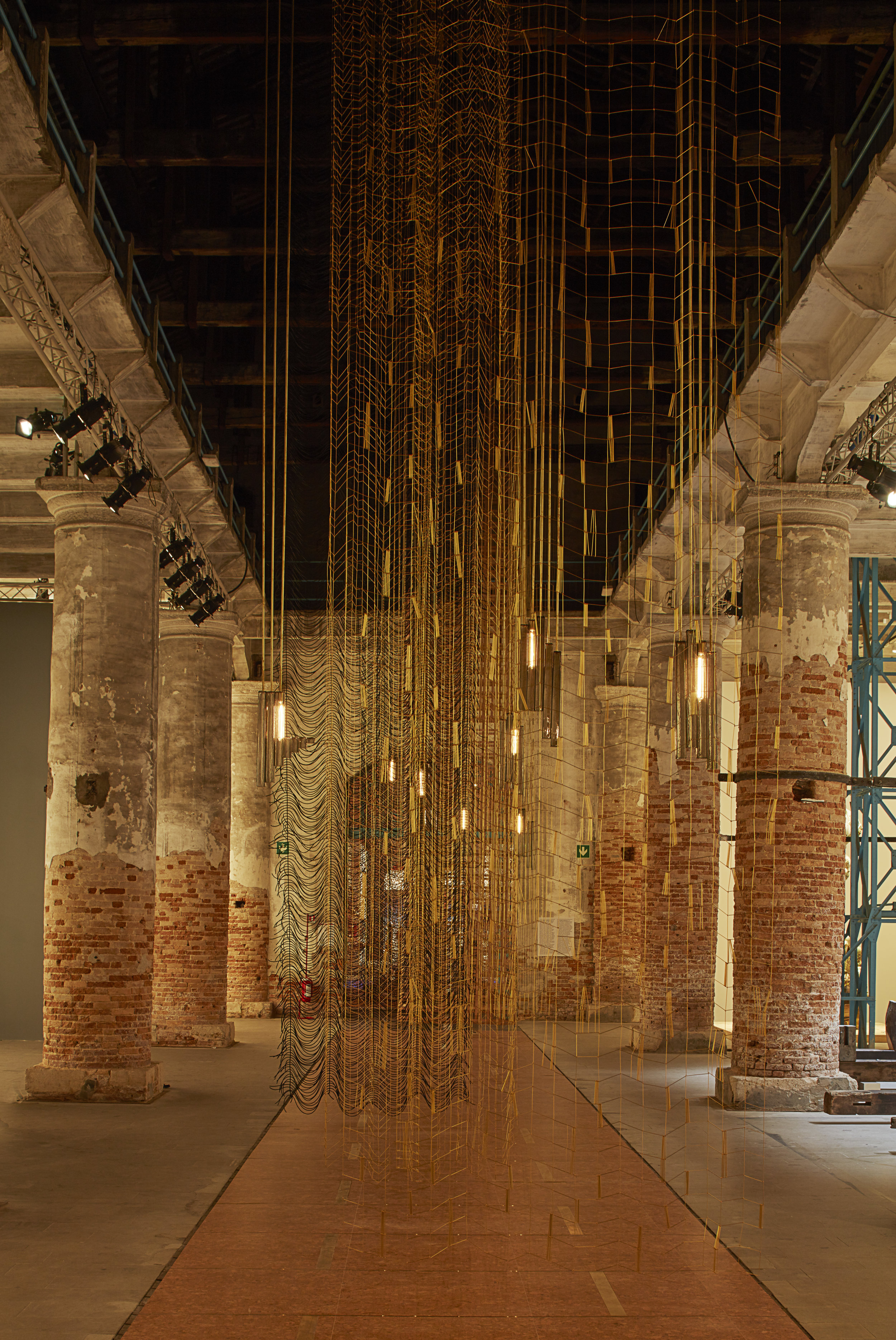 Leonor Antunes, installation at Venice Biennial (2017). Photo by Nick Ash.