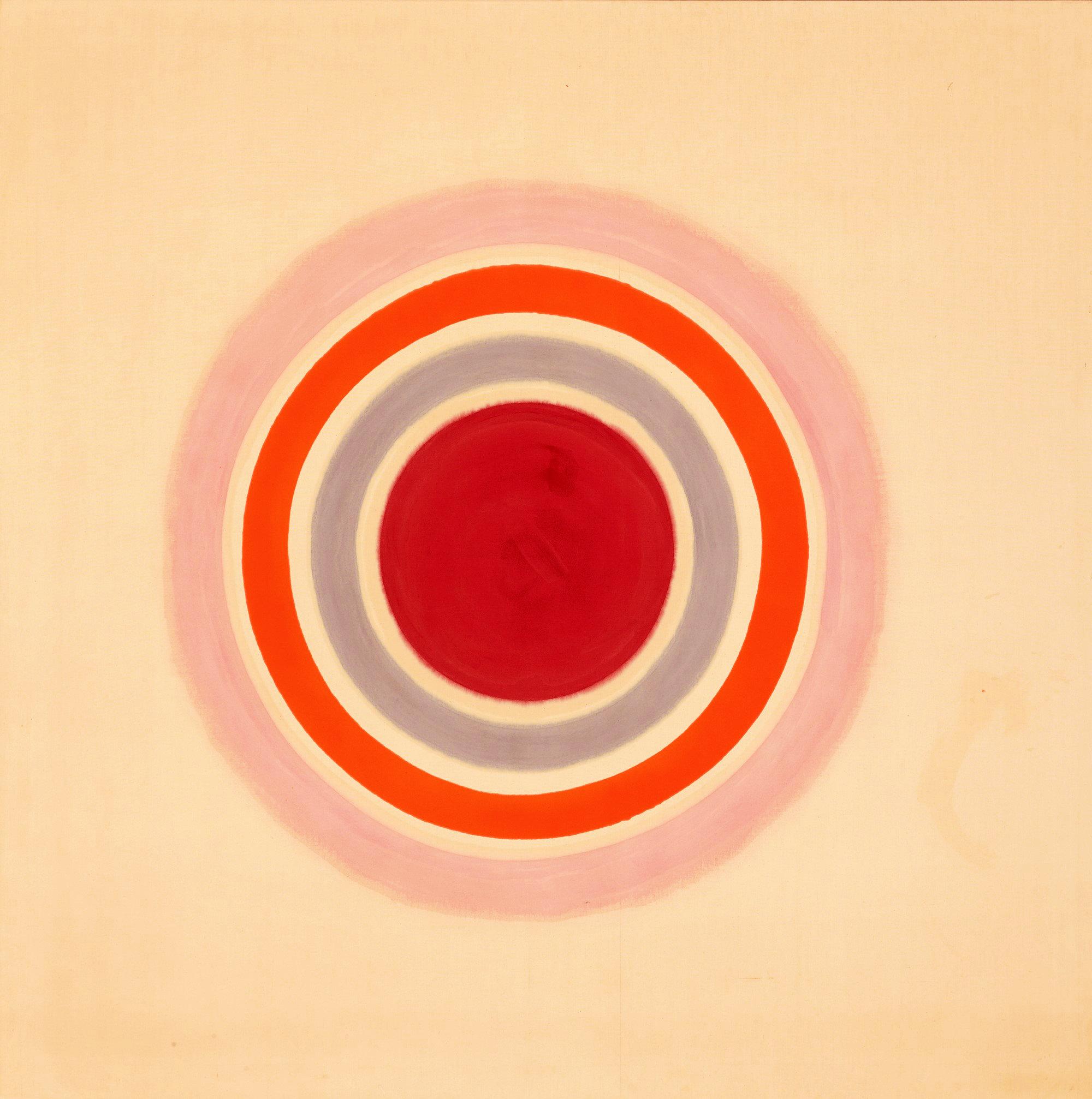 Kenneth Noland, Spring Call , 1961. Acrylic on canvas. 82.5 x 82.5 inches.209.6 x 209.6 cm