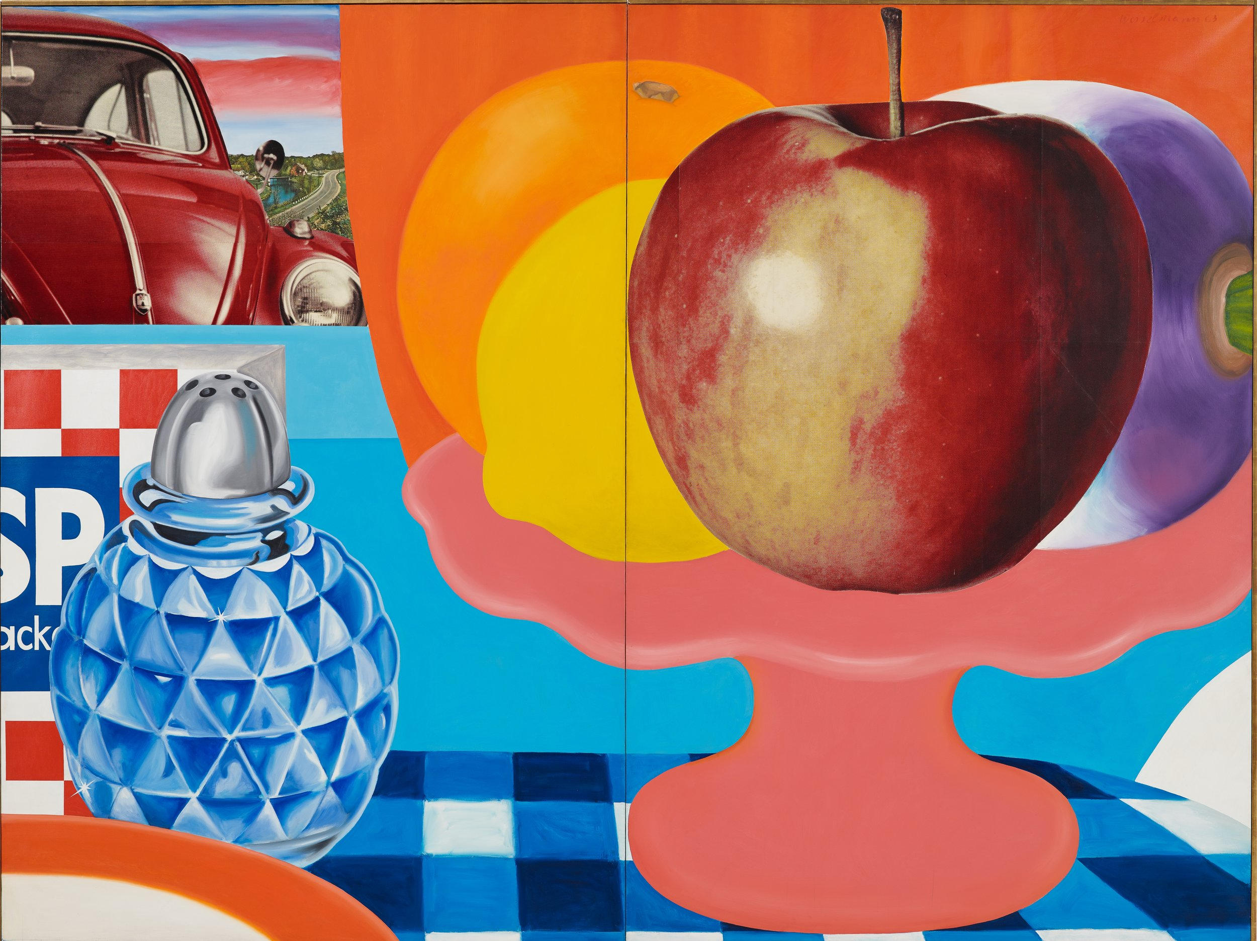 TOM WESSELMANN  Still Life #29 , 1963 Oil and printed paper collaged on canvas 9 x 12 feet 274.3 x 365.8 cm   Art © Estate of Tom Wesselmann/Licensed by VAGA, New York, NY    Photo: Jeffrey Sturges Courtesy of The Tom Wesselmann Estate and Gagosian