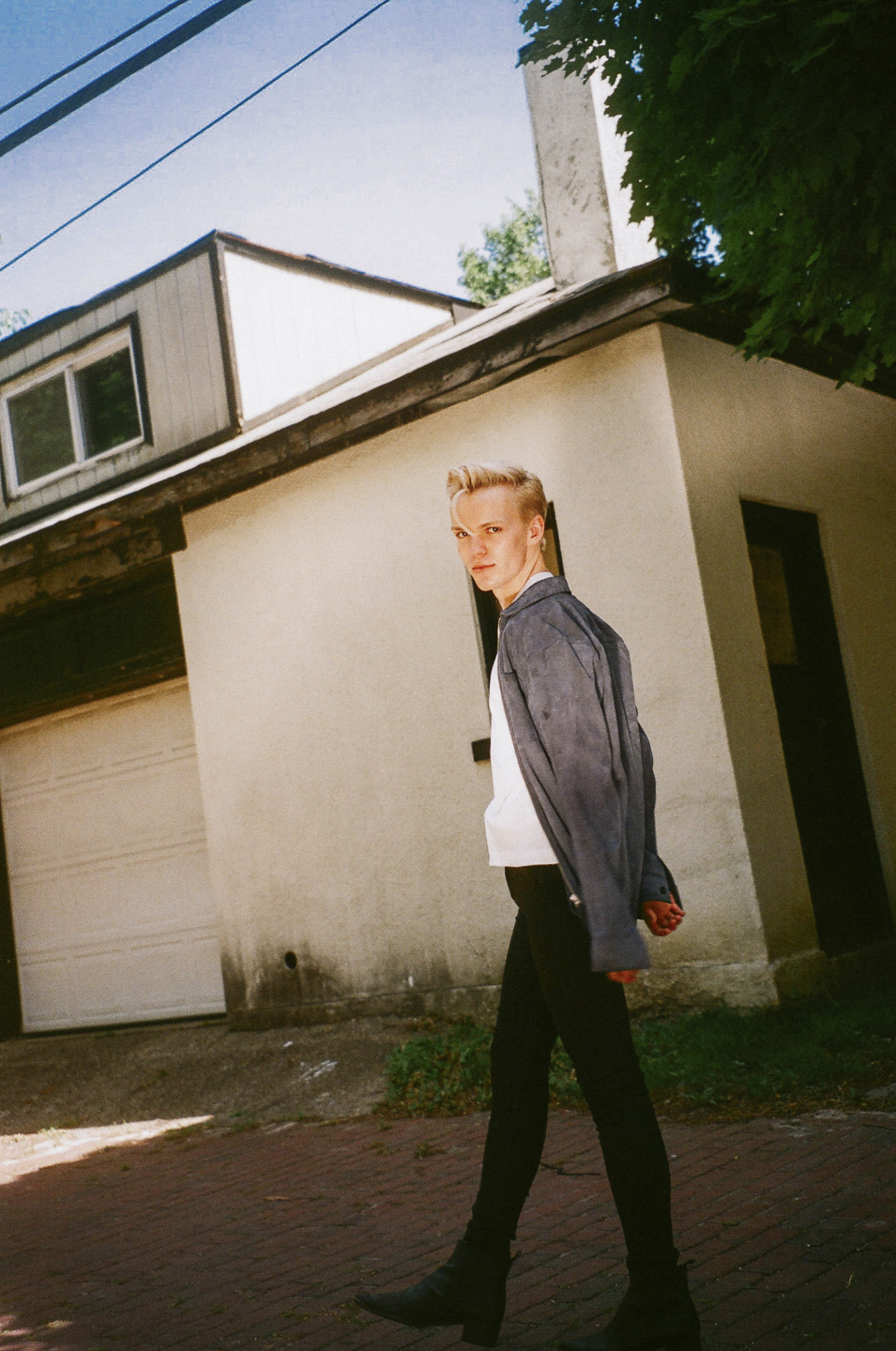 OUR LEGACY  shirt, STILL BY HAND t-shirt,  CITIZENS OF HUMANITY  jeans and  ACNE STUDIOS  boots.