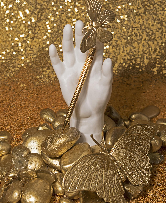 Must De CARTIER Gold and Steel Pen