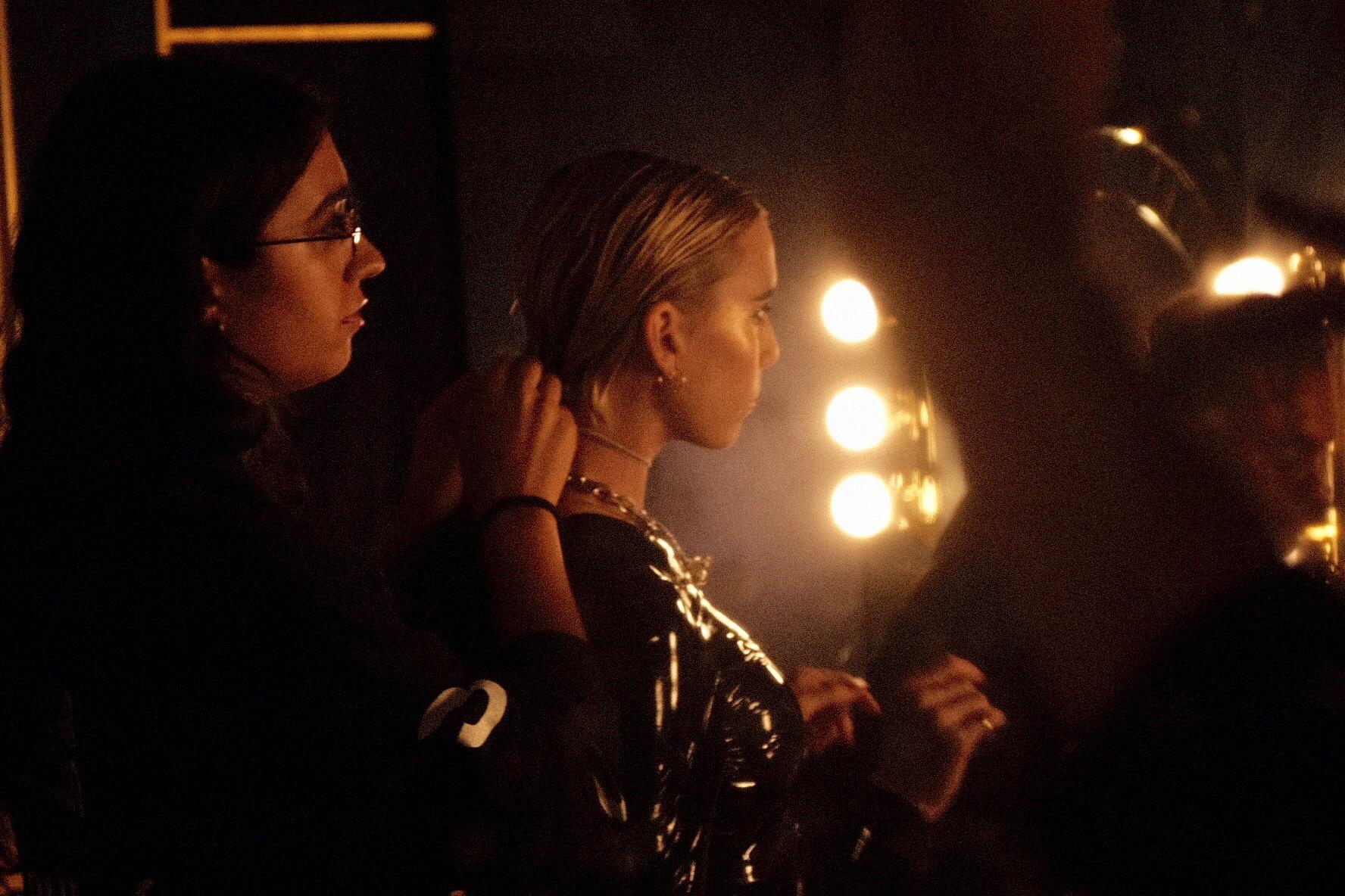 Backstage with Lykke Li. Photo by Charlotte Dawes.