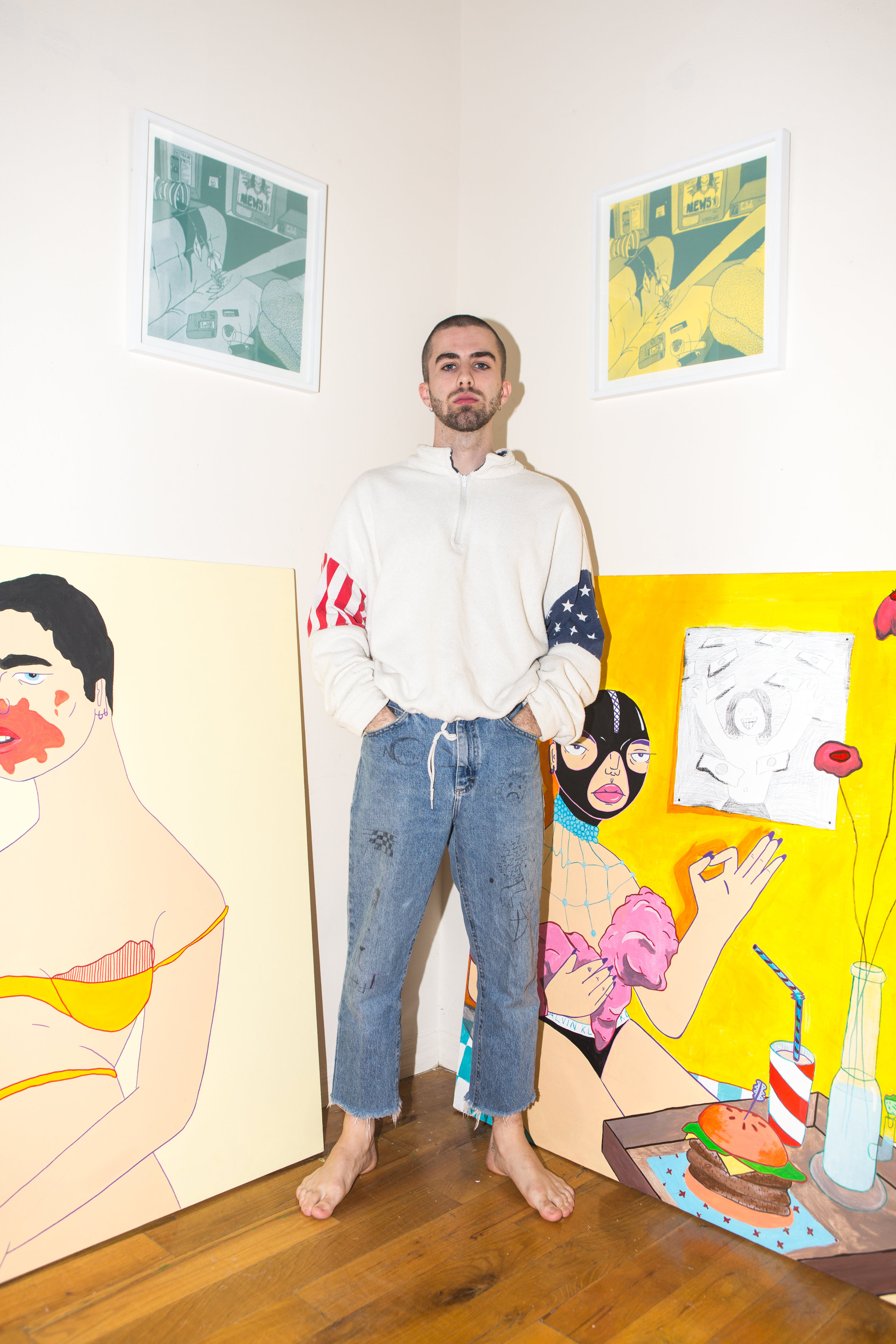 A Q A With Brooklyn S Infamous Satirical Artist Ben Evans