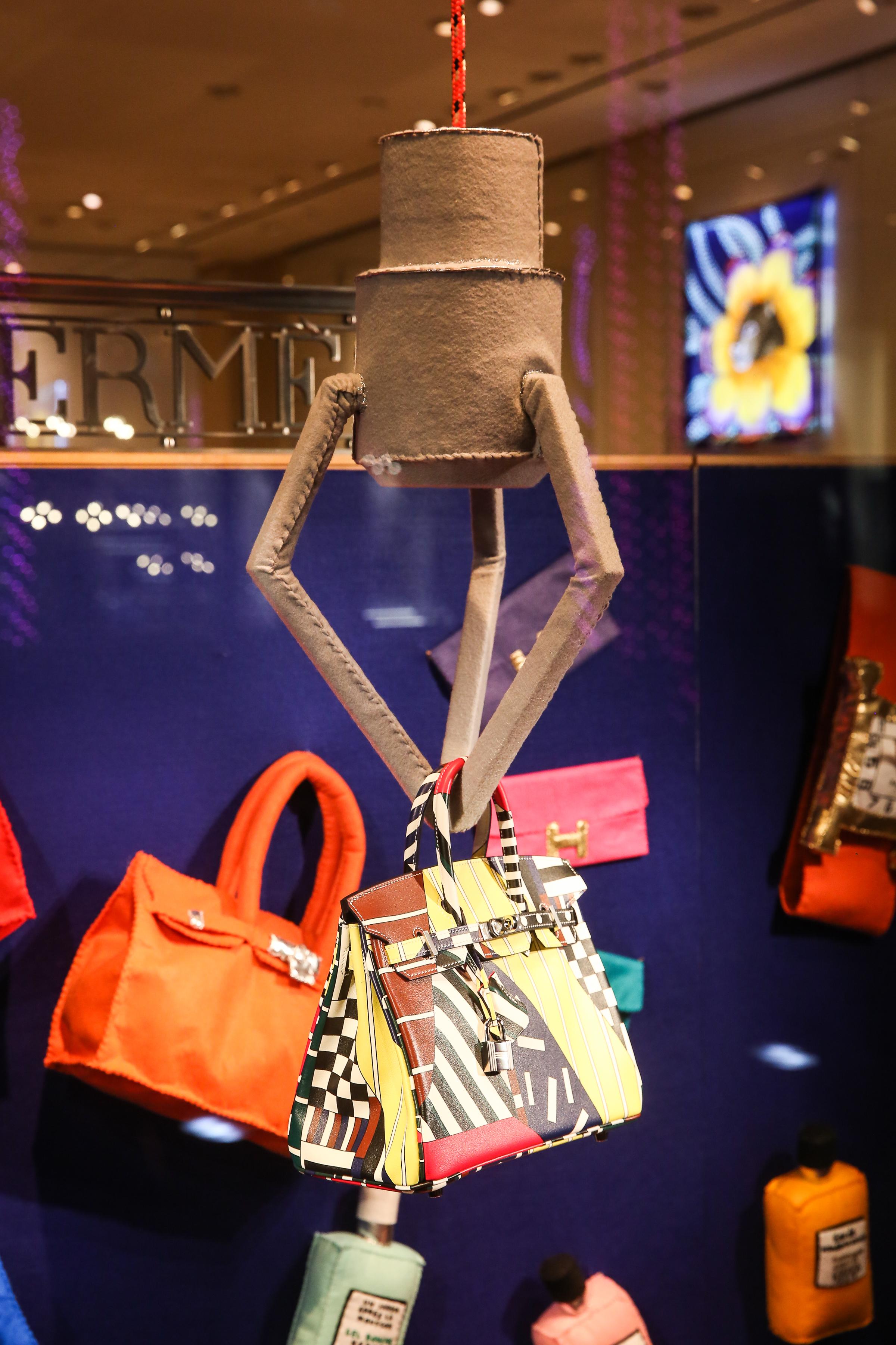 Hermès x Lucy Sparrow Holiday Window