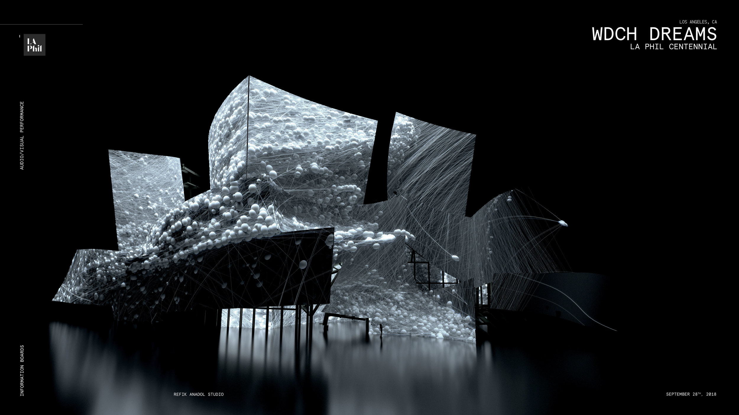 "REFIK ANADOL. ""WDCH DREAMS"" (2018). COMPUTER-GENERATED RENDERINGS. COURTESY REFIK ANADOL STUDIO AND LA PHIL"