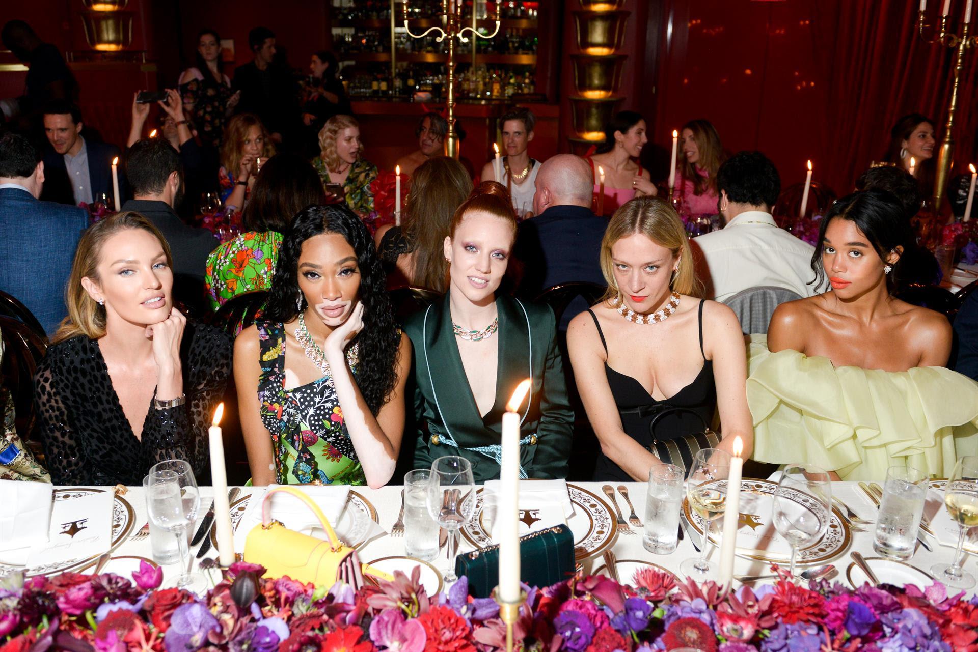Candice Swanepoel, Winnie Harlow, Jess Glynne, Chloë Sevigny, and Laura Harrier