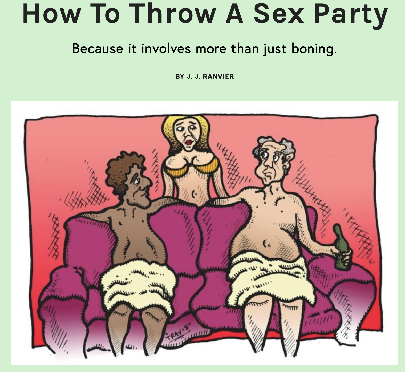 How to Throw A Sex Party