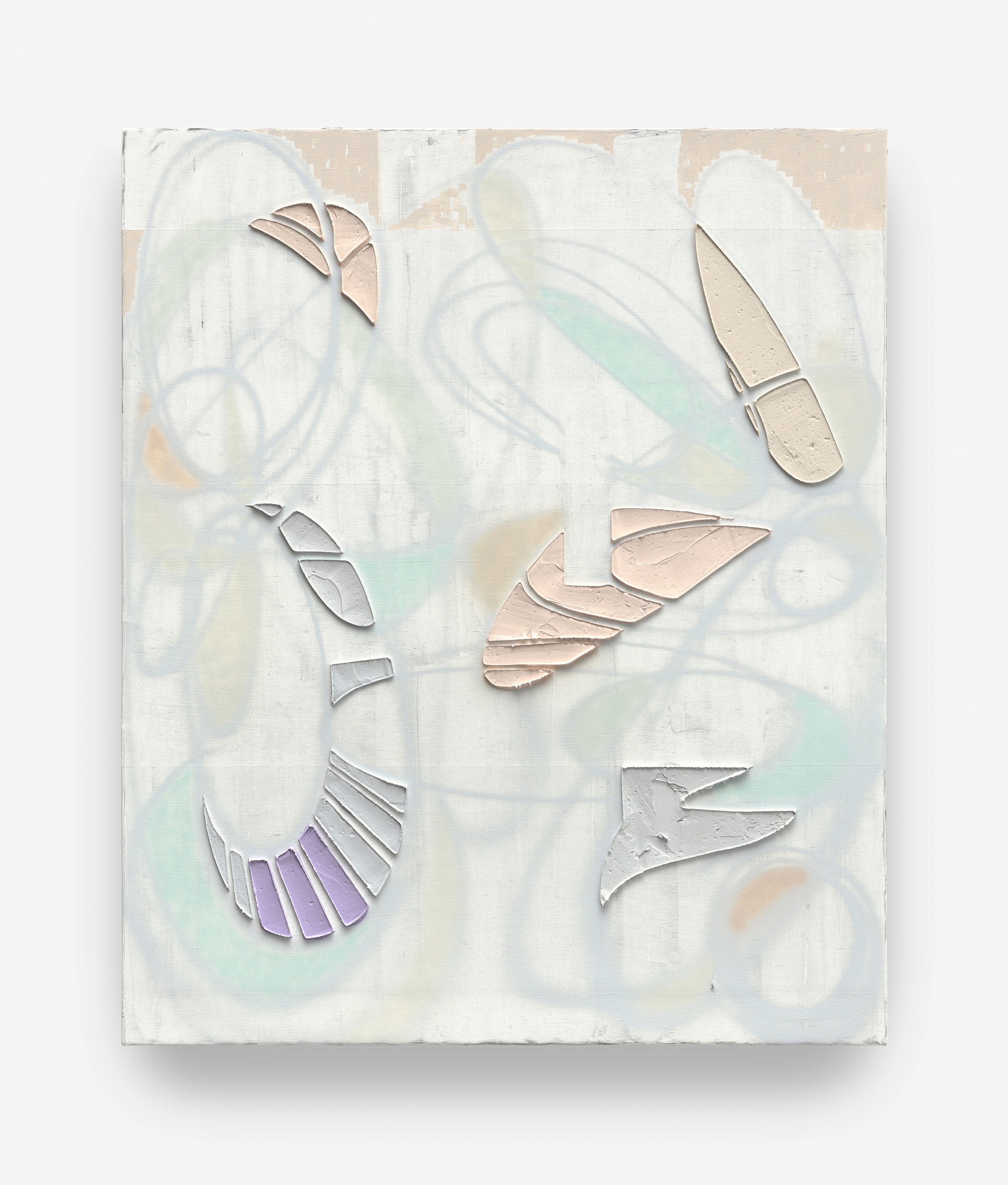 """KELTIE FERRIS. """"HIGH FADE"""" (2018). OIL AND ACRYLIC ON CANVAS IN THE ARTIST'S FRAME. TRIPTYCH; EACH PANEL: 72 X 60 1/8 IN. © KELTIE FERRIS. COURTESY OF THE ARTIST AND MITCHELL-INNES & NASH, NEW YORK"""