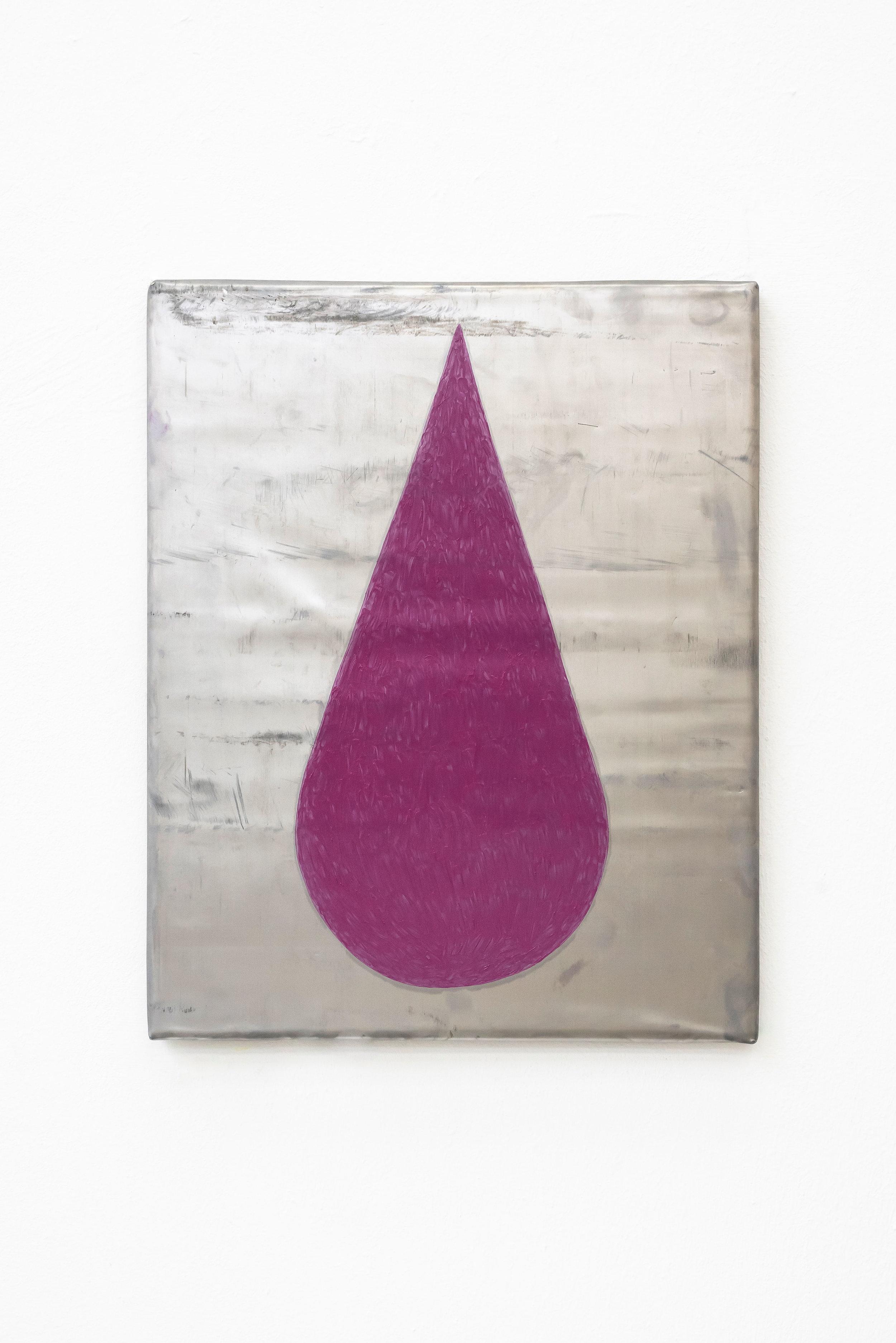 "MICHAEL SAILSTORFER. ""HEAVY TEAR 27 CHANEL 454 JEAN"" (2018). LEAD, LIPSTICK. 19 5/8 × 15 3/4 × 3/4 INCHES. COURTESY THE ARTIST."