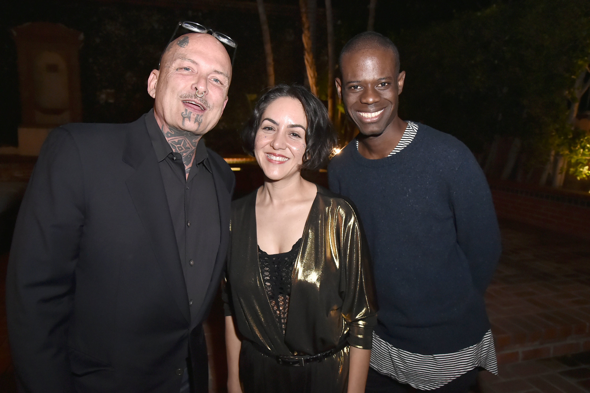 Left to Right: Ron Athey, Carmen Argote, and Diedrick Brackens. Artist group photo: David Crotty for Artadia.