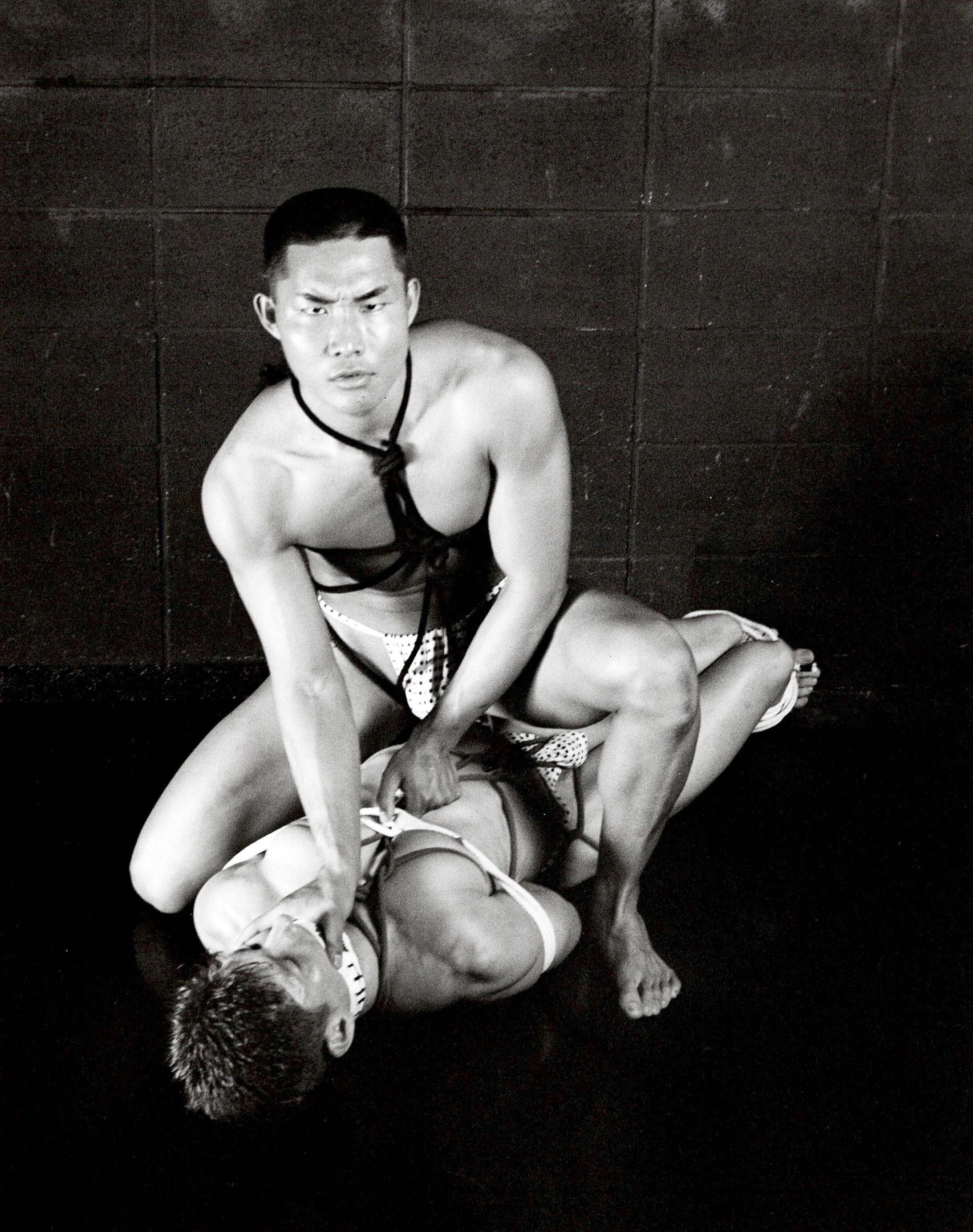 RICK CASTRO- JAPANESE BONDAGE BUDDIES- MATTE FIBER PRINT 1997