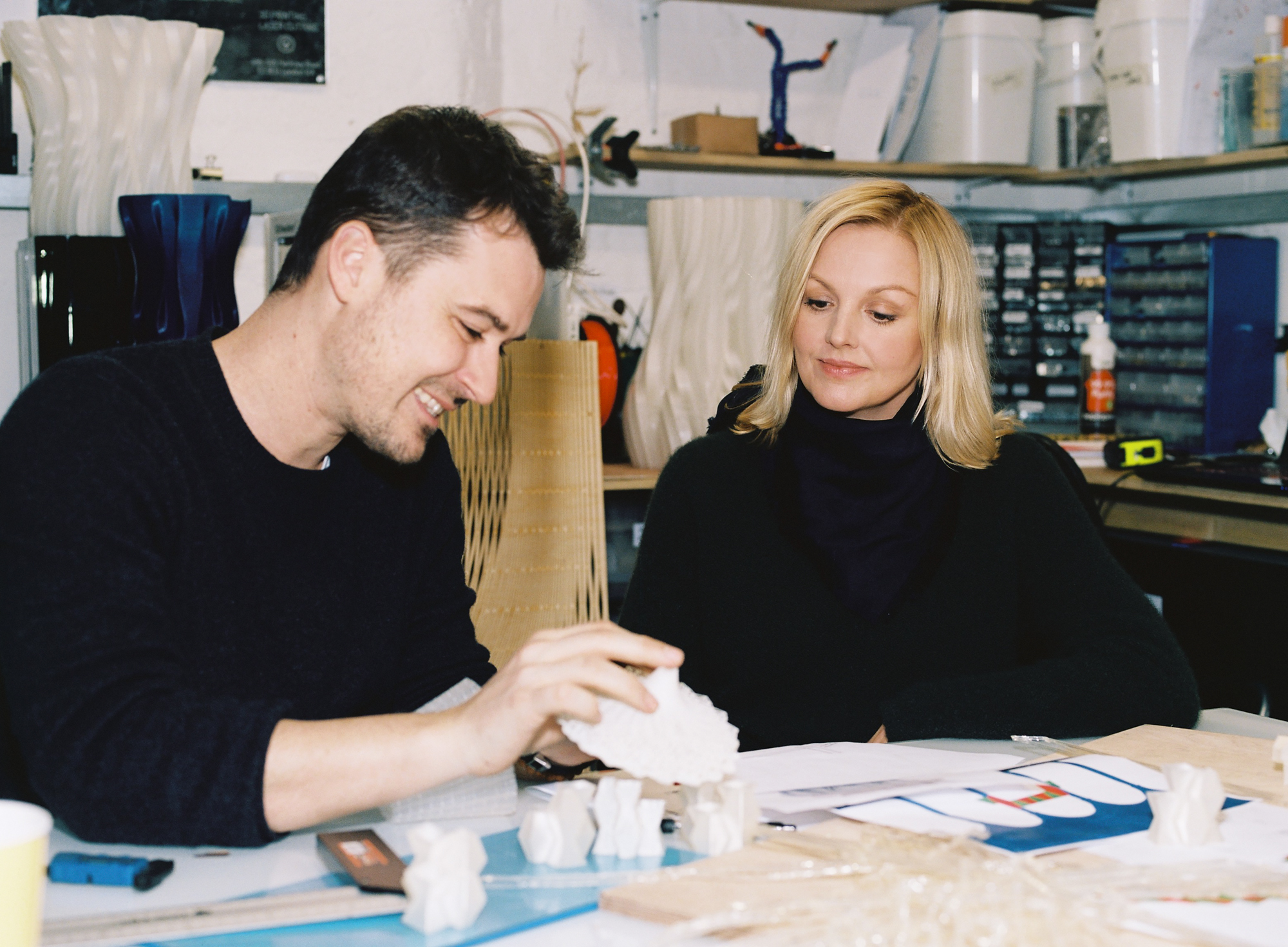 French architect Arthur Mamou-Mani and Karin Gustafsson, creative director of COS.