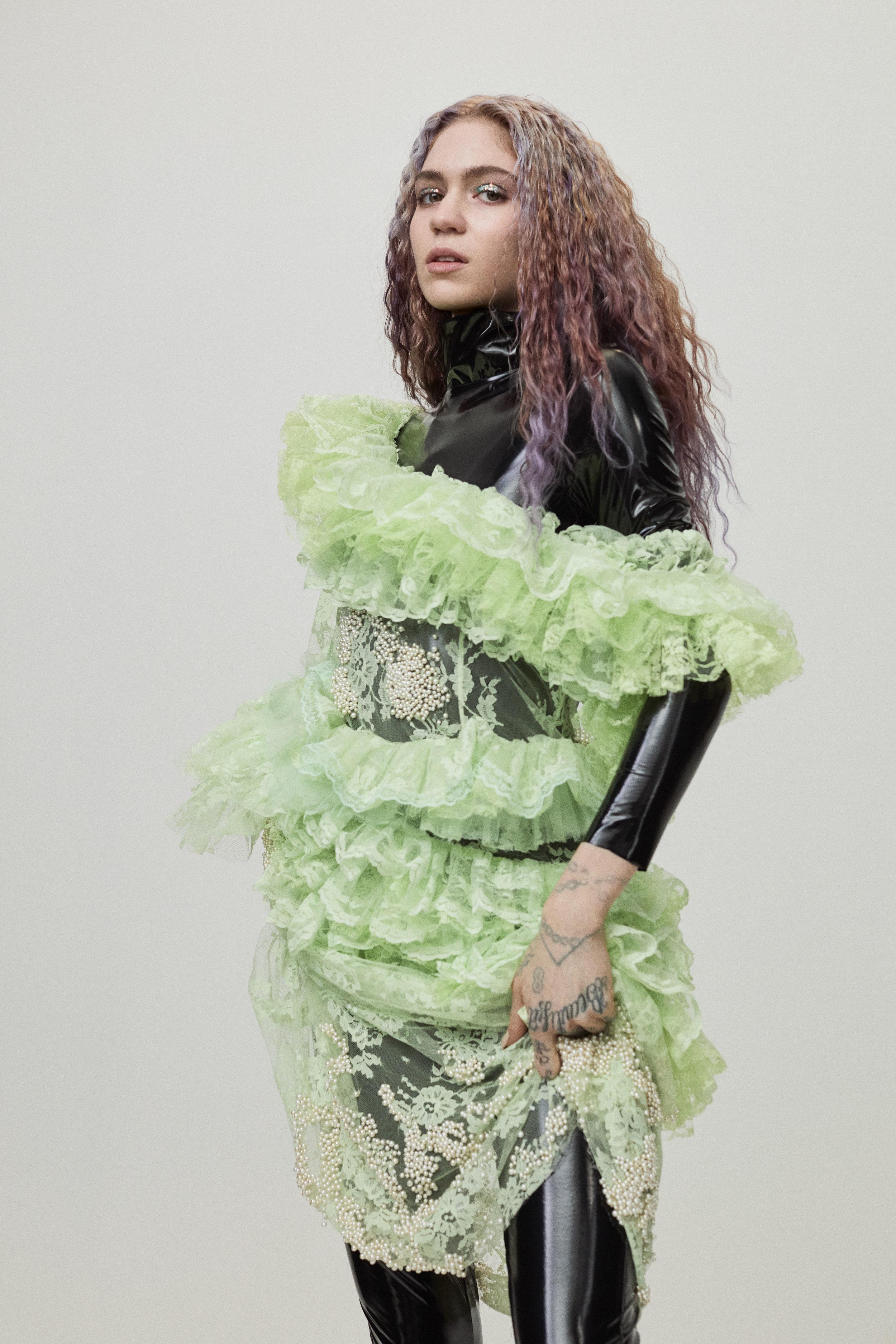 PREEN BY THORNTON BREGAZZI     dress and stylist's own bodysuit