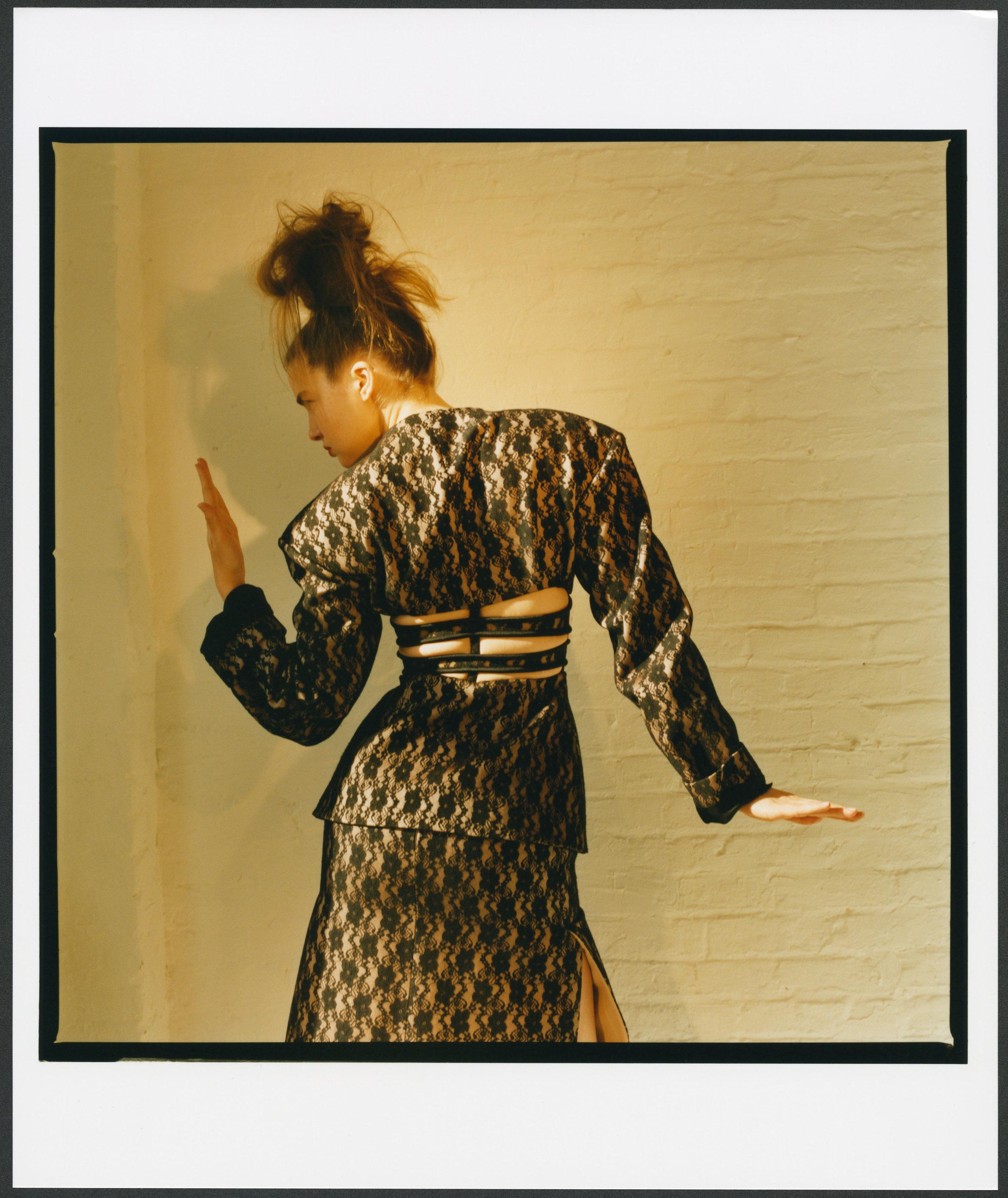 CHRISTOPHER KANE     jacket and skirt.