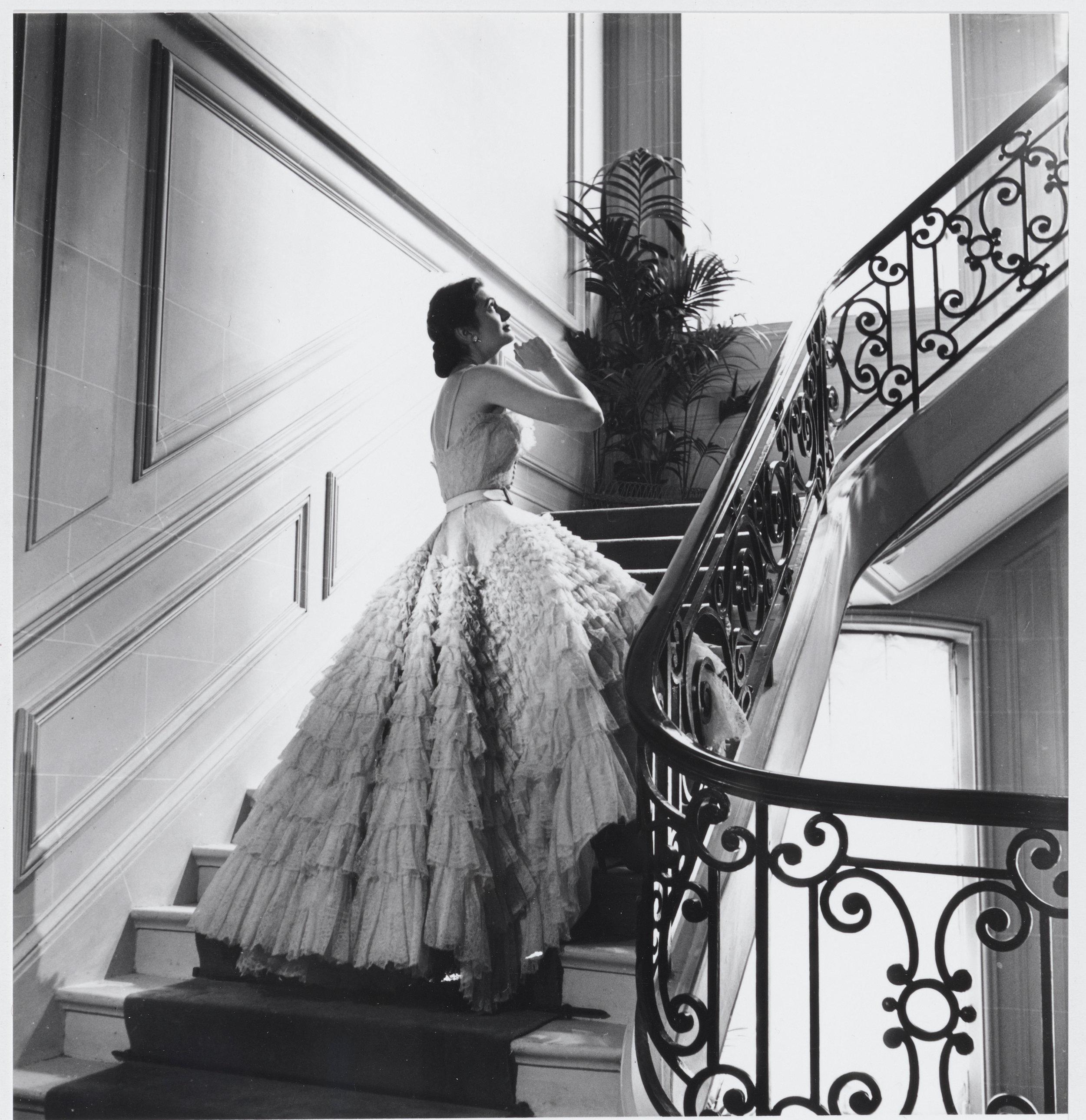 Eugénie dress, Haute Couture Fall-Winter 1948, Ailée line. Christian Dior © Association Willy Maywald _ ADAGP, 2019_.jpg