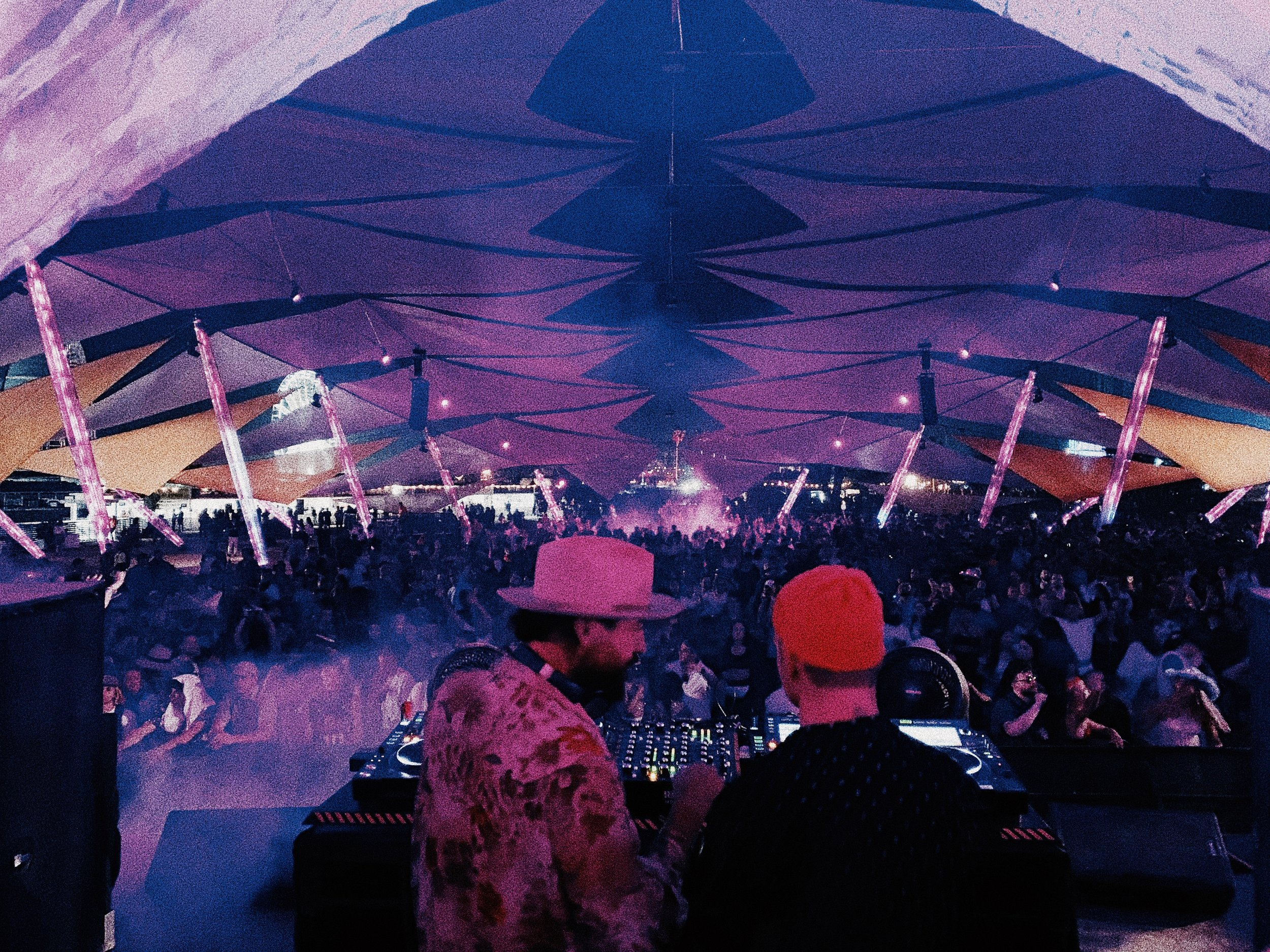 Showtime, this picture is from my recent show at Coachella playing B2B with my brother RY X, always an amazing festival to play and especially with RY.
