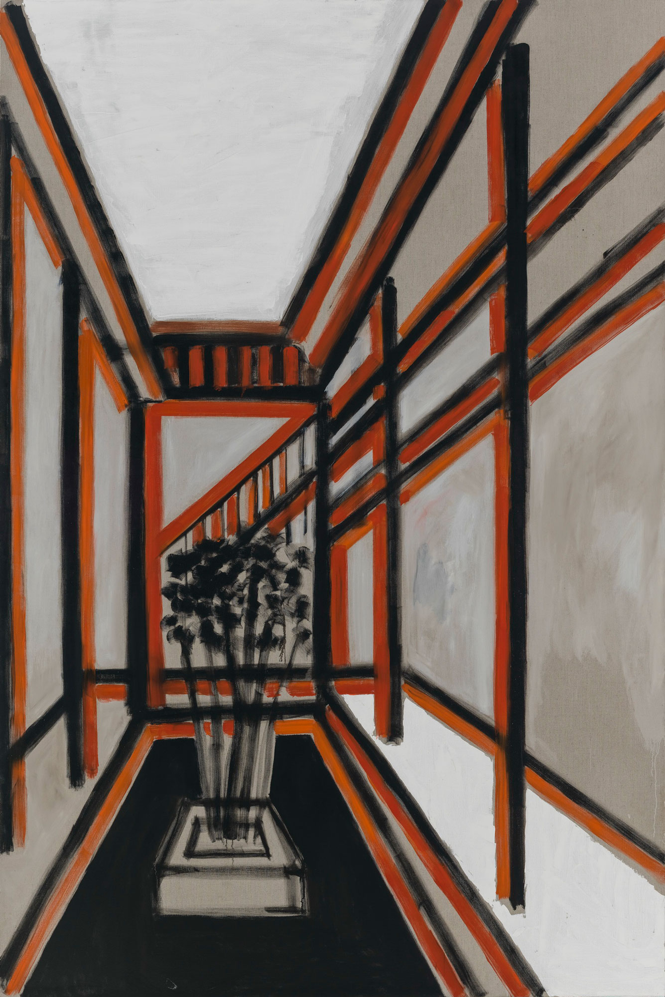 ZHAO GANG .  A Corridor of the Classroom,  2014. Oil on canvas. 110 1/4 x 78 3/4 inches.  Courtesy of Frank F. Yang Foundation, Guangzhou