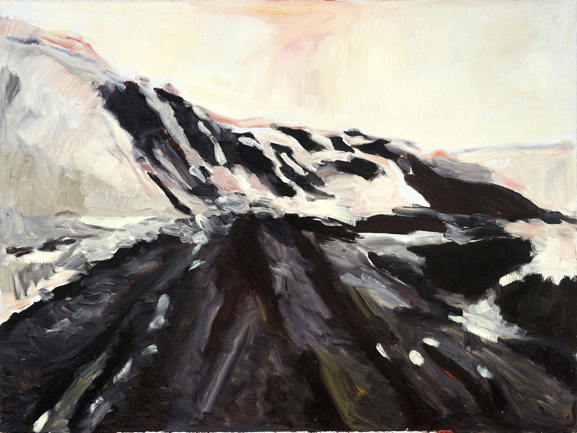 ZHAO GANG.   Untitled Landscape,  2006. Oil on canvas. 35 7/16 x 47 1/4 inches.  Courtesy the artist and Galerie Nagel, Draxler, Berlin/Cologne