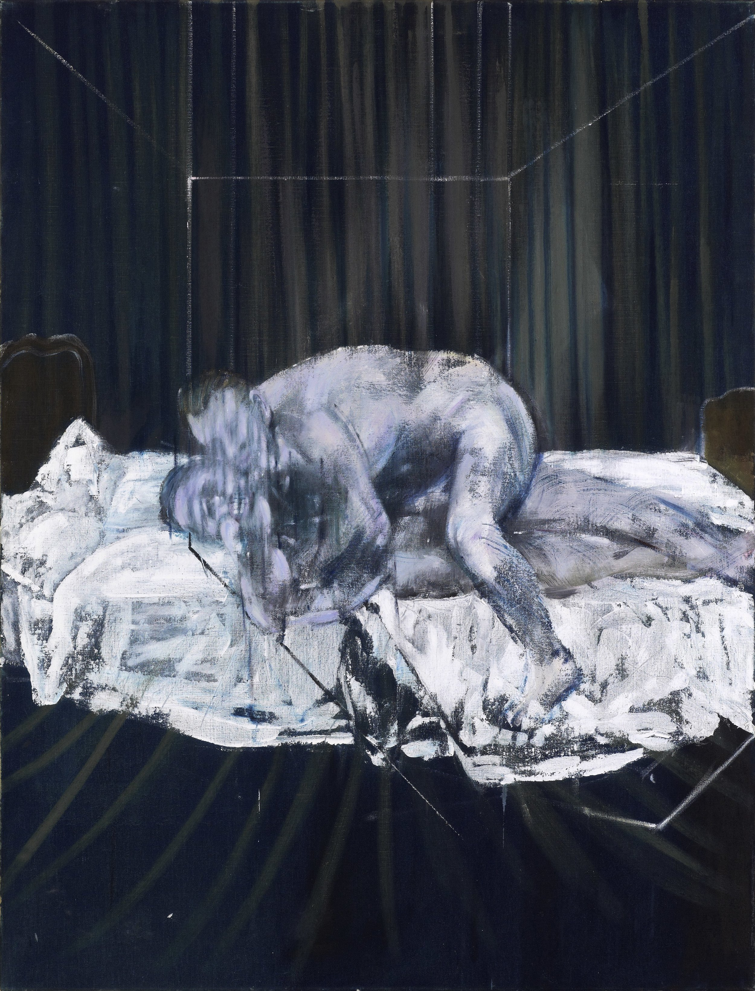 Francis Bacon.  Two Figures , 1953. Oil on canvas. 152.5 x 116.5 cm. © The Estate of Francis Bacon. All rights reserved, DACS/Artimage 2019. Photo: Prudence Cuming Associates Ltd. Courtesy Gagosian