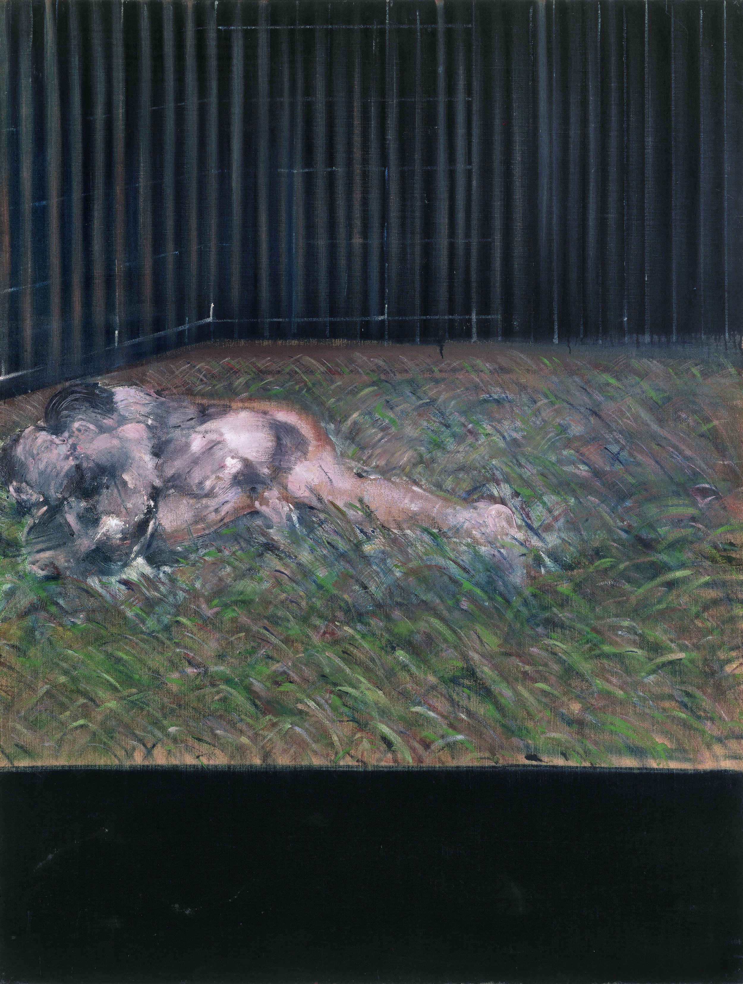 Francis Bacon.  Two Figures in the Grass , 1954. Oil on canvas. 152 x 117cm. © The Estate of Francis Bacon. All rights reserved, DACS/Artimage 2019. Photo: Prudence Cuming Associates Ltd. Courtesy Gagosian