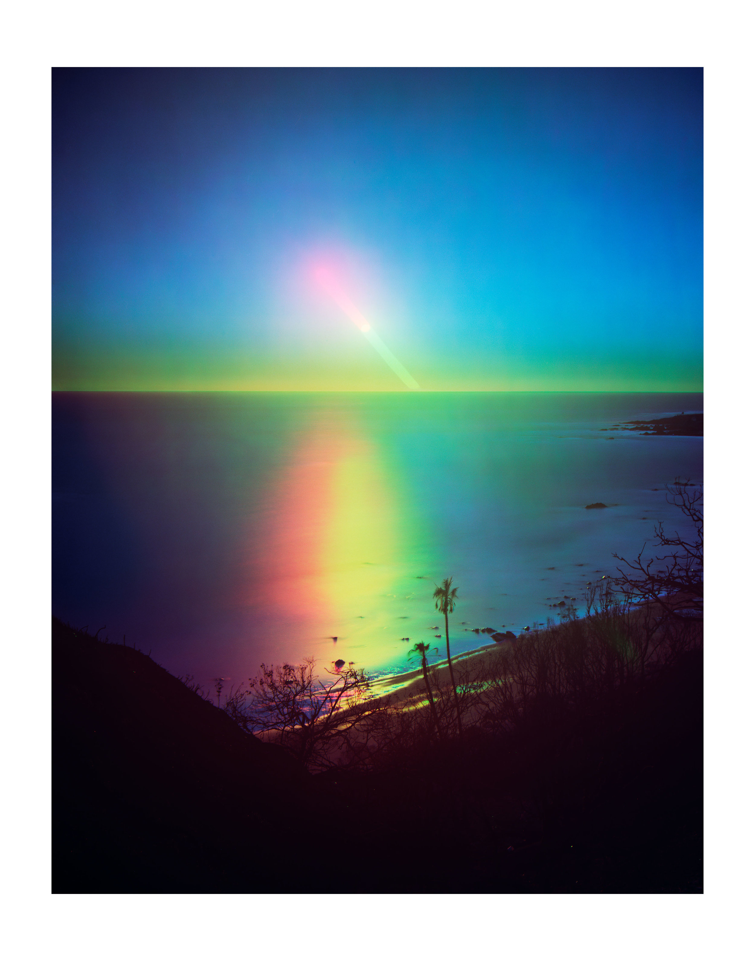 "FLORIAN MAIER-AICHEN ""UNTITLED (SUNSET)"" 2019. C-PRINT. 89 x 70 3/8 INCHES. © FLORIAN MAIER-AICHEN. COURTESY OF THE ARTIST AND BLUM & POE, LOS ANGELES / NEW YORK / TOKYO"
