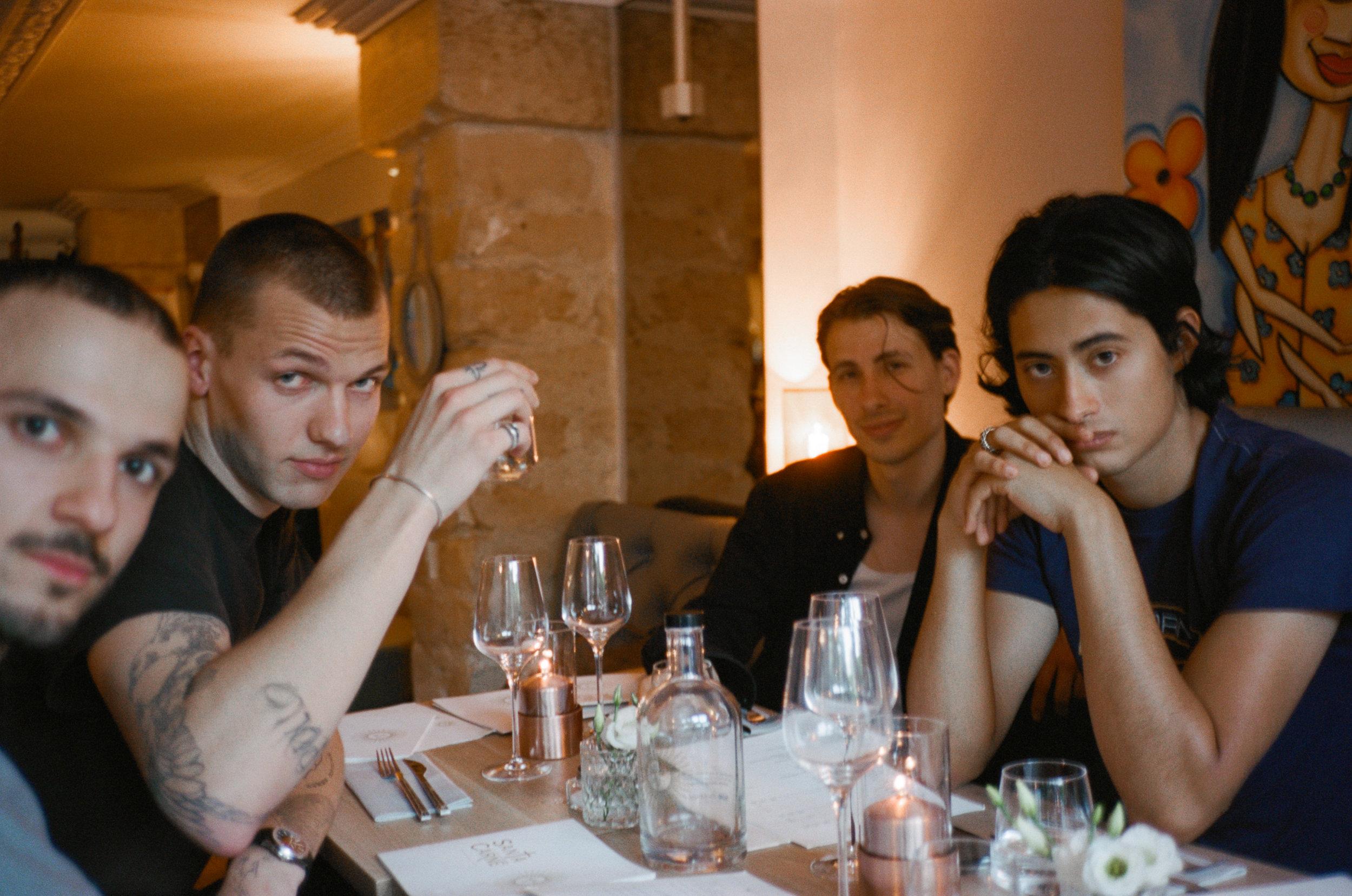 Night 1 friends dinner. Mehmet Çevik Jakob Hetzer Illya Goldman Alberto Mier