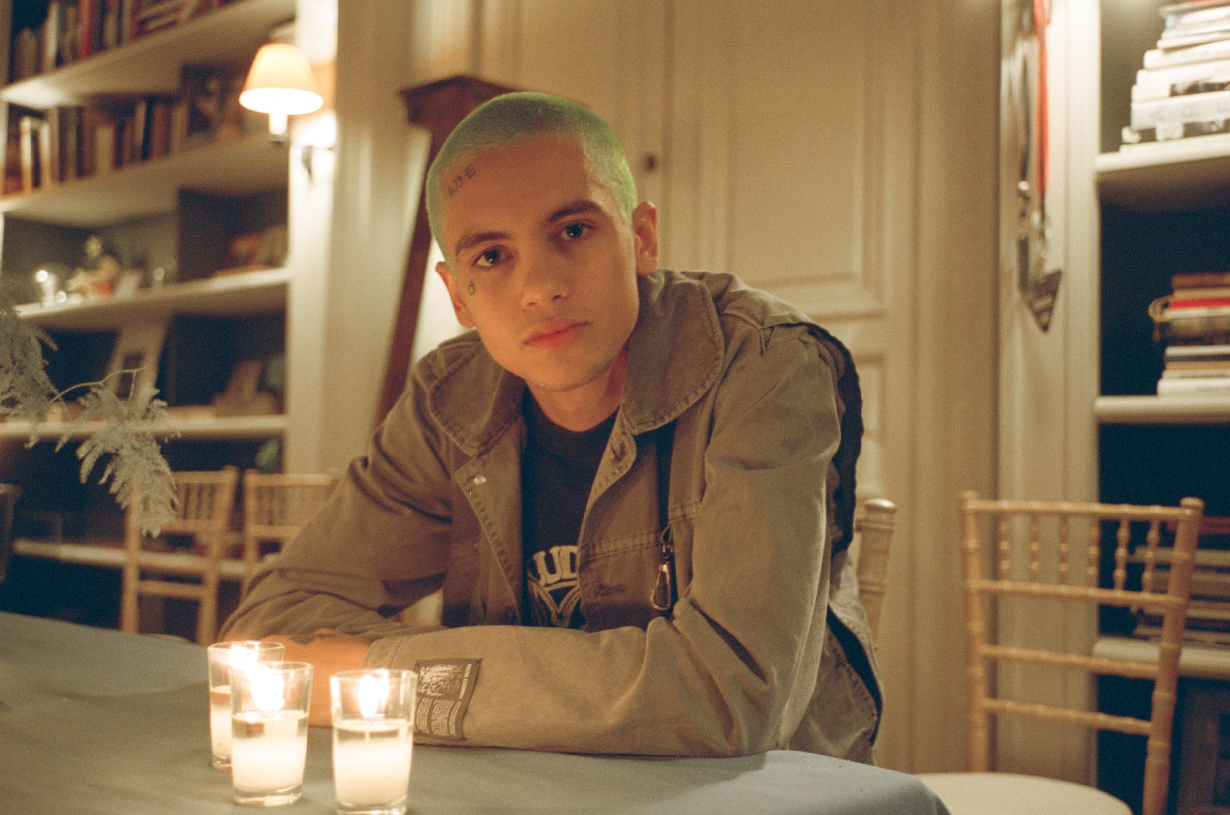 Dominic Fike at Dior party.