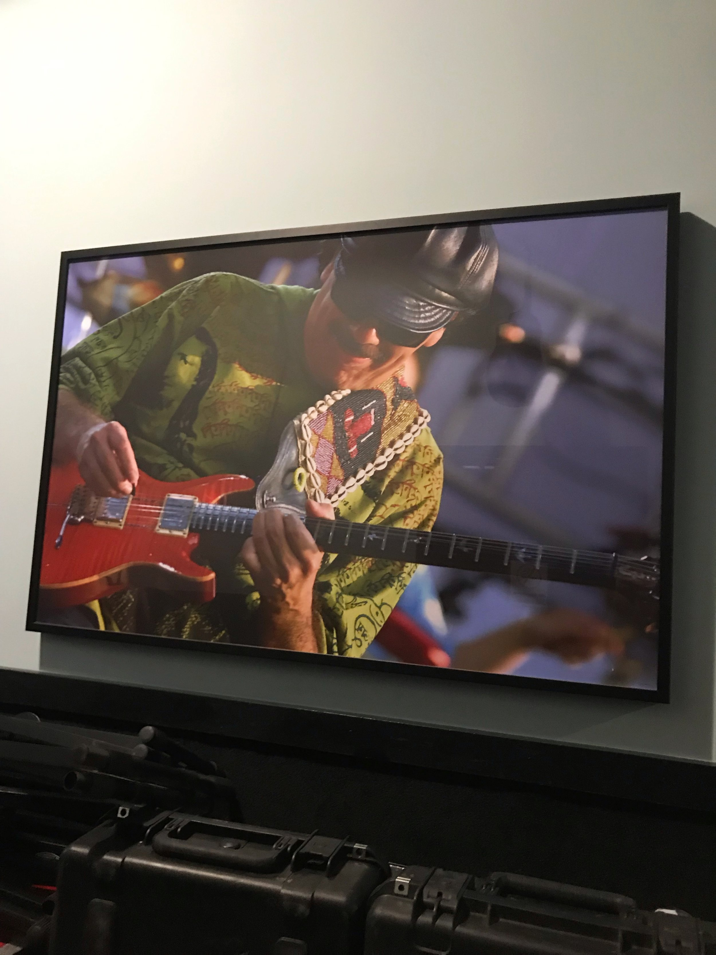 Carlos Santana. SIR Rehearsal Studios, Nashville.