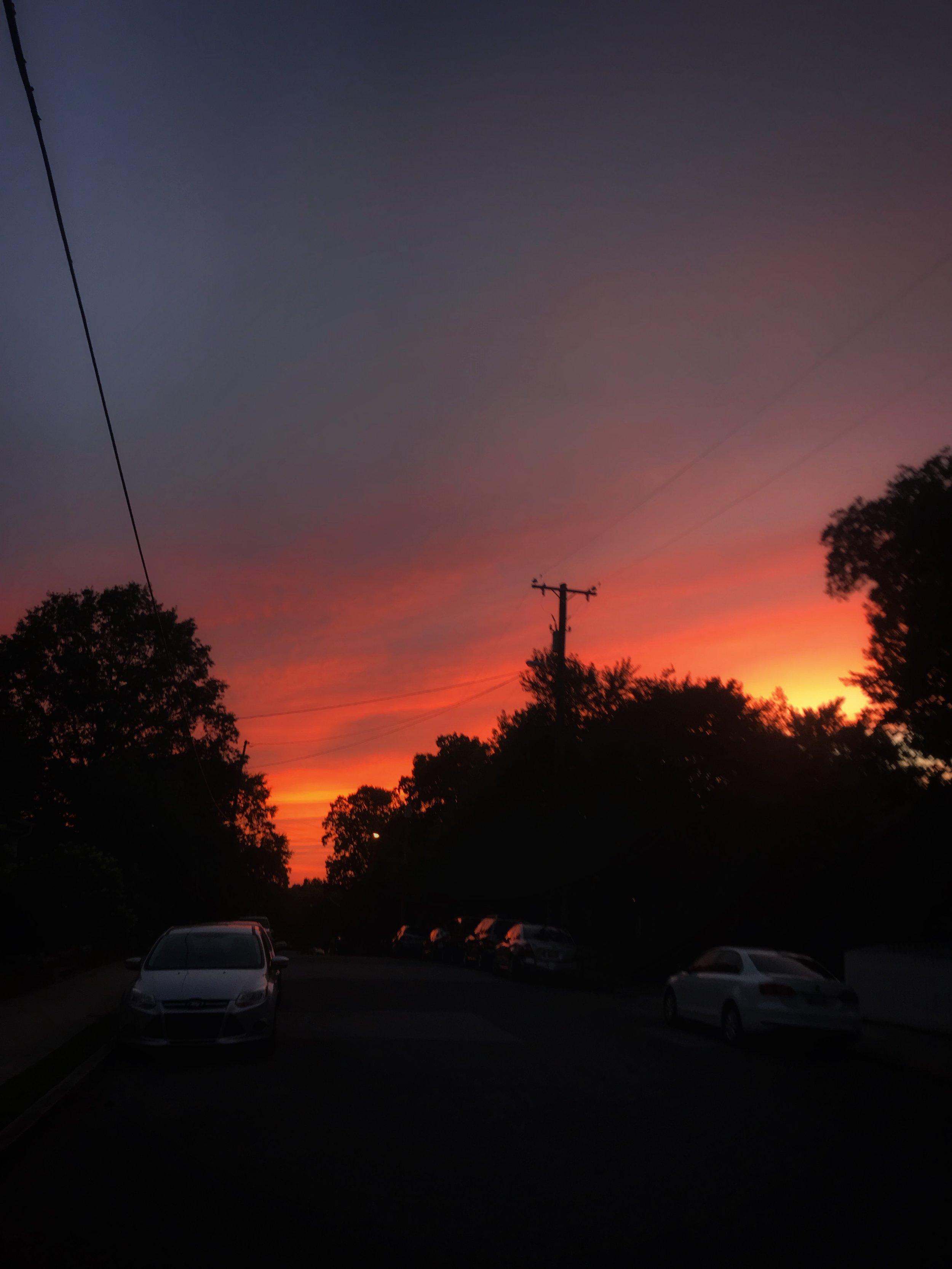 East Nashville sunset.