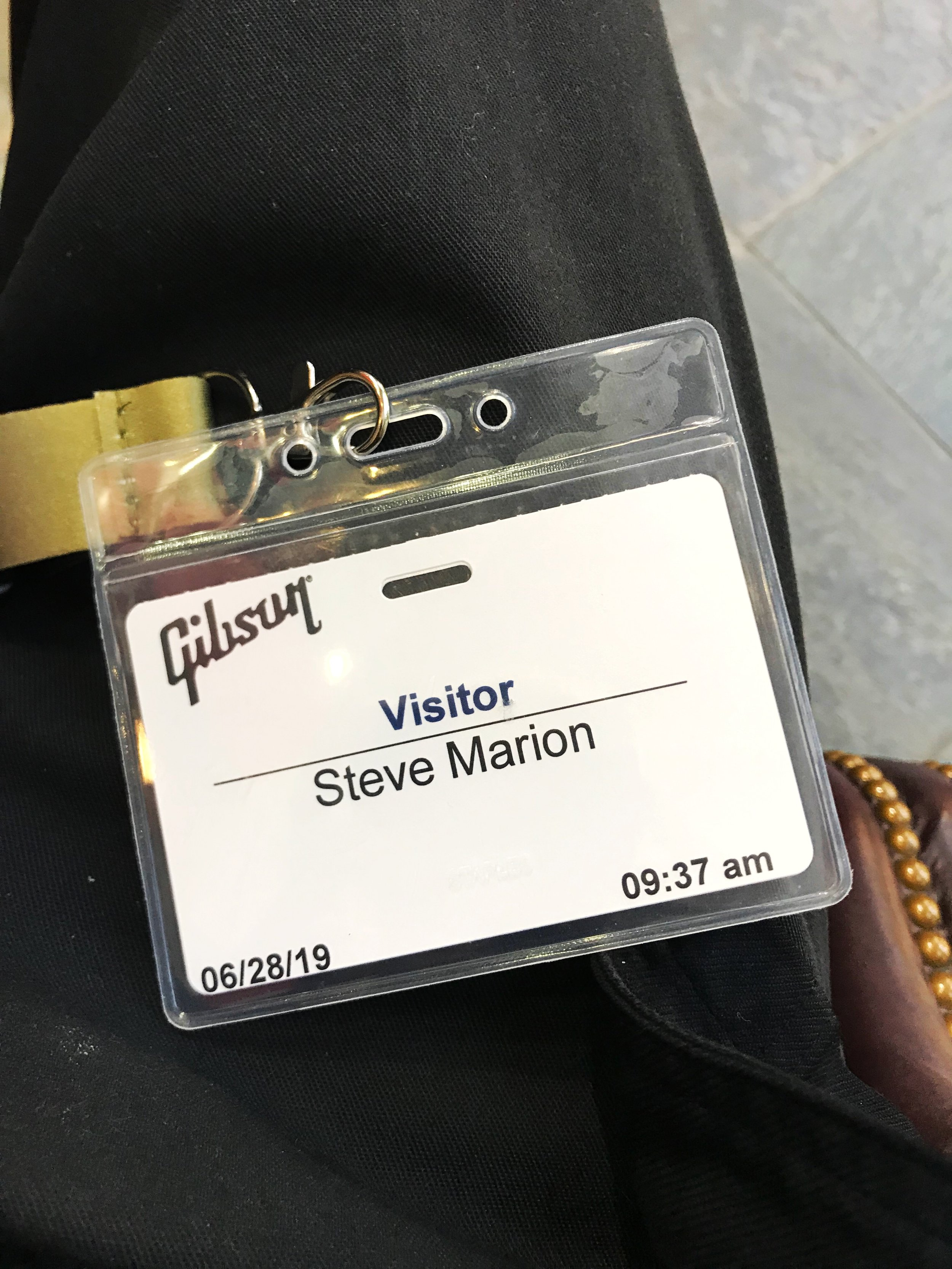 Visit to Gibson.
