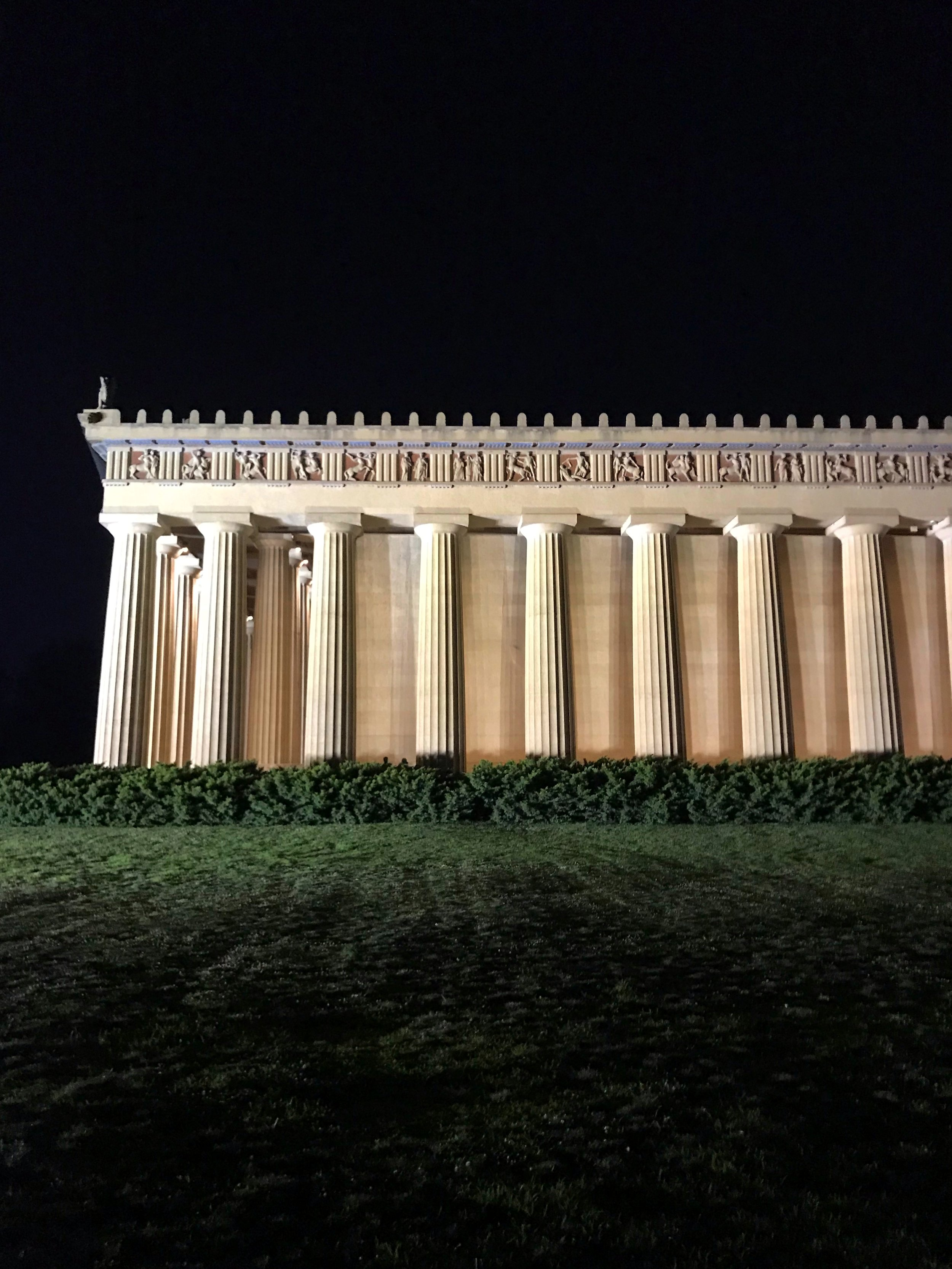 All things end at Nashville's Parthenon.
