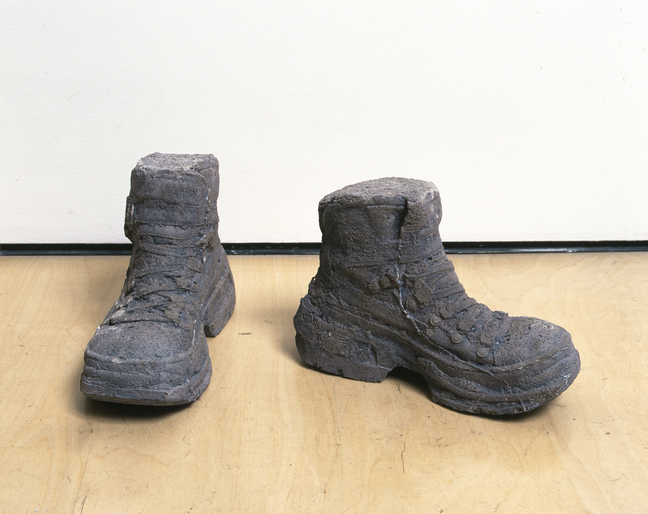 "Sarah Lucas ""Concrete Boots 98–99"" 1999. Cast concrete, 7 5/8 x 5 1/8 x 11 in. © Sarah Lucas. Courtesy Sadie Coles HQ, London"