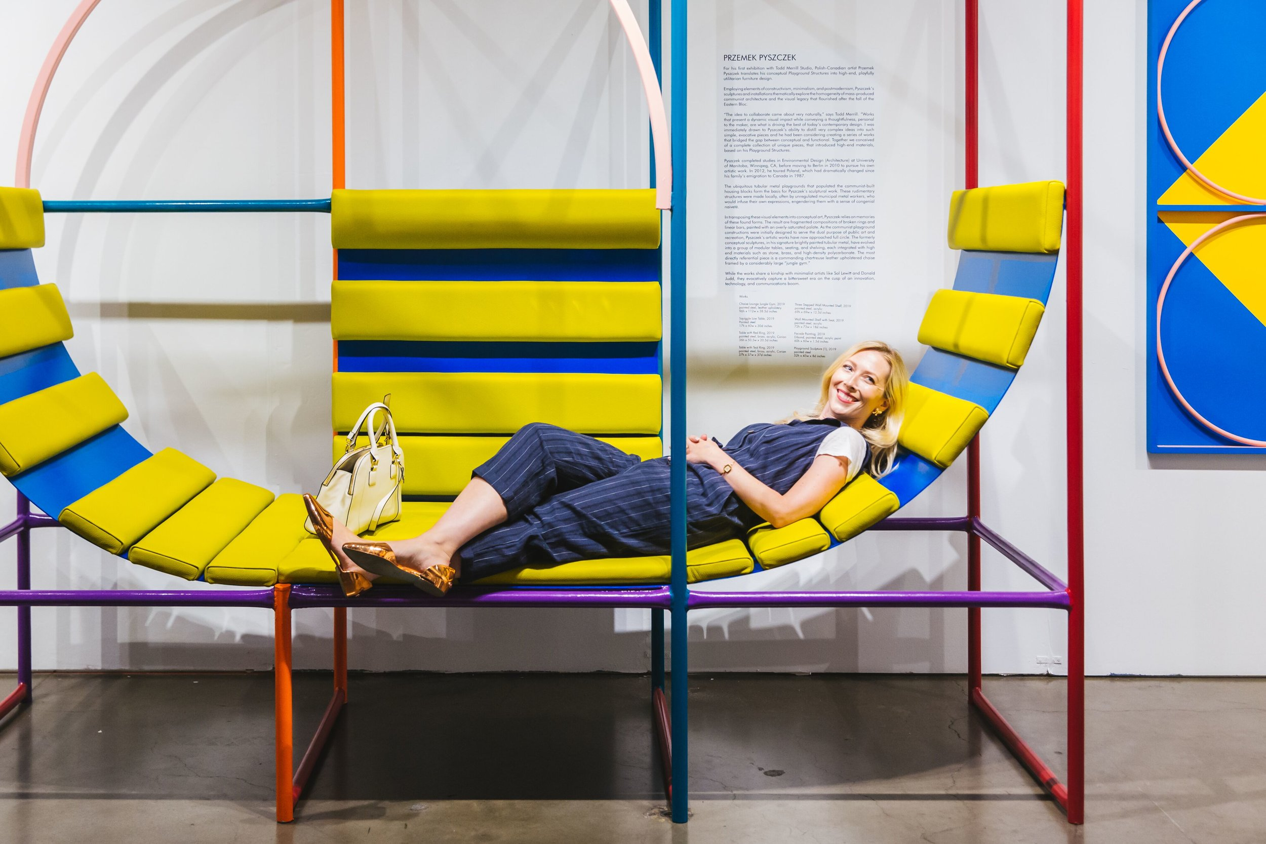 The Polish Canadian artist's  Playground Structures  takes his colorful postmordern designs and brings them to a world of functioning art that is playful, durable and stunning.