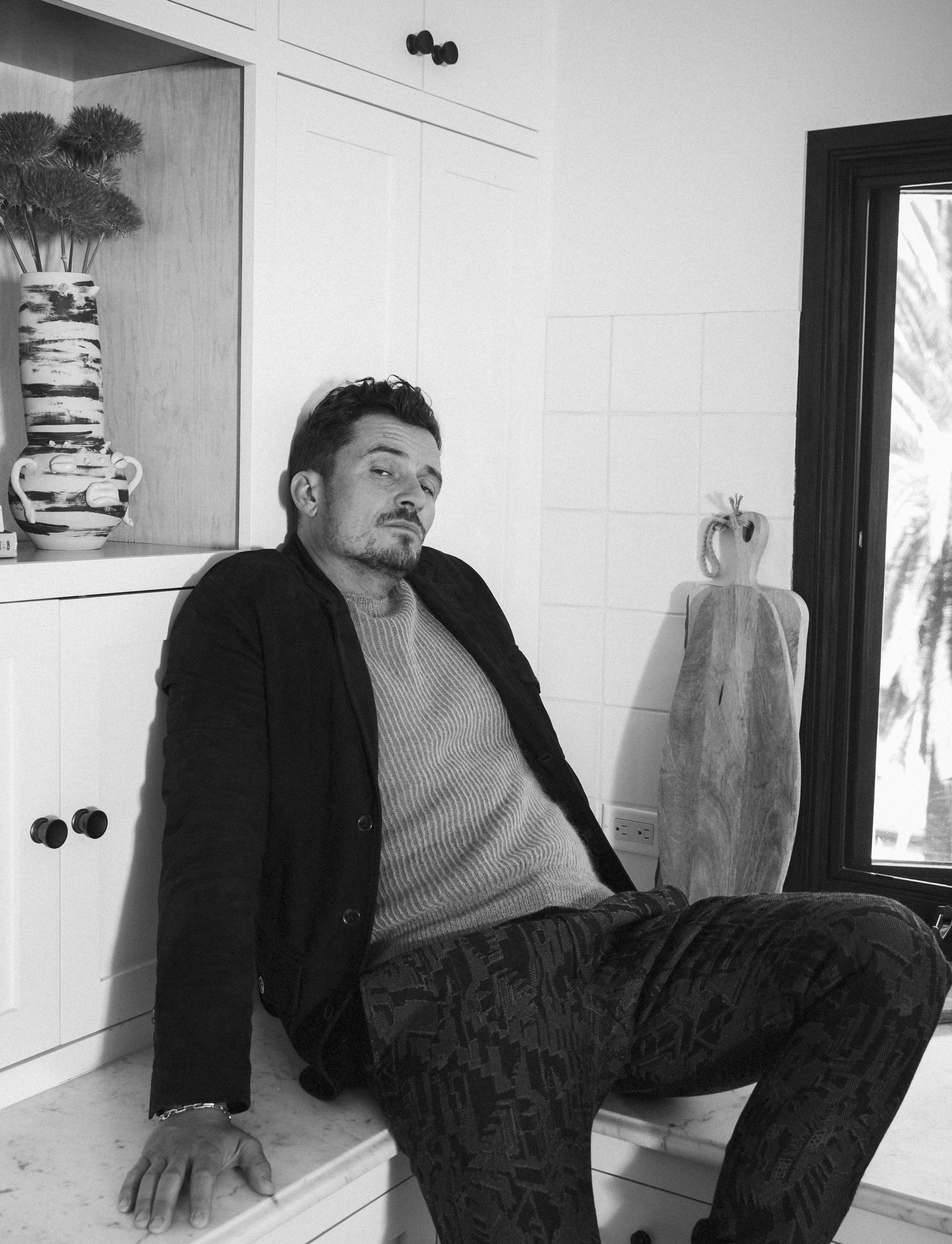 BRUNO MAGLI     blazer,   SALVATORE FERRAGAMO     sweater, and   ERMENEGILDO ZEGNA     pants.