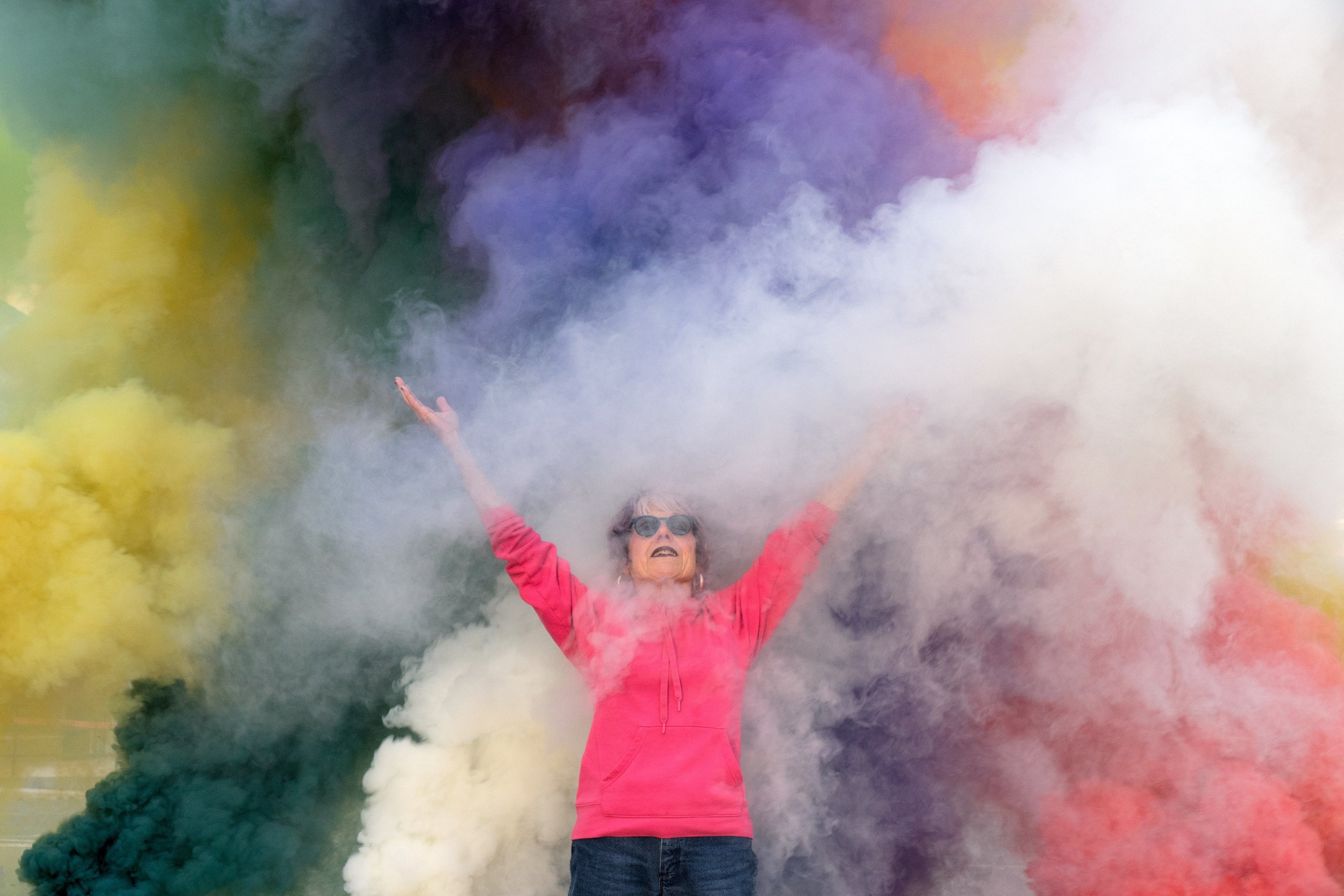 Judy Chicago -  Birthday Bouquet for Belen Smoke Test , 2019