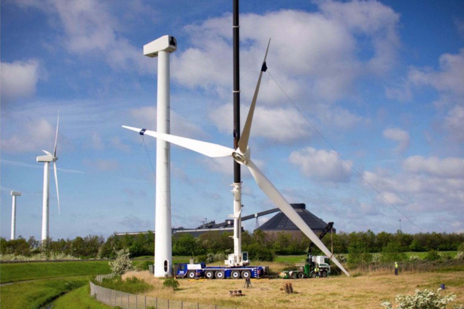 Wind turbines are expected to generate 1.2 Million Kilo Watts of power per year