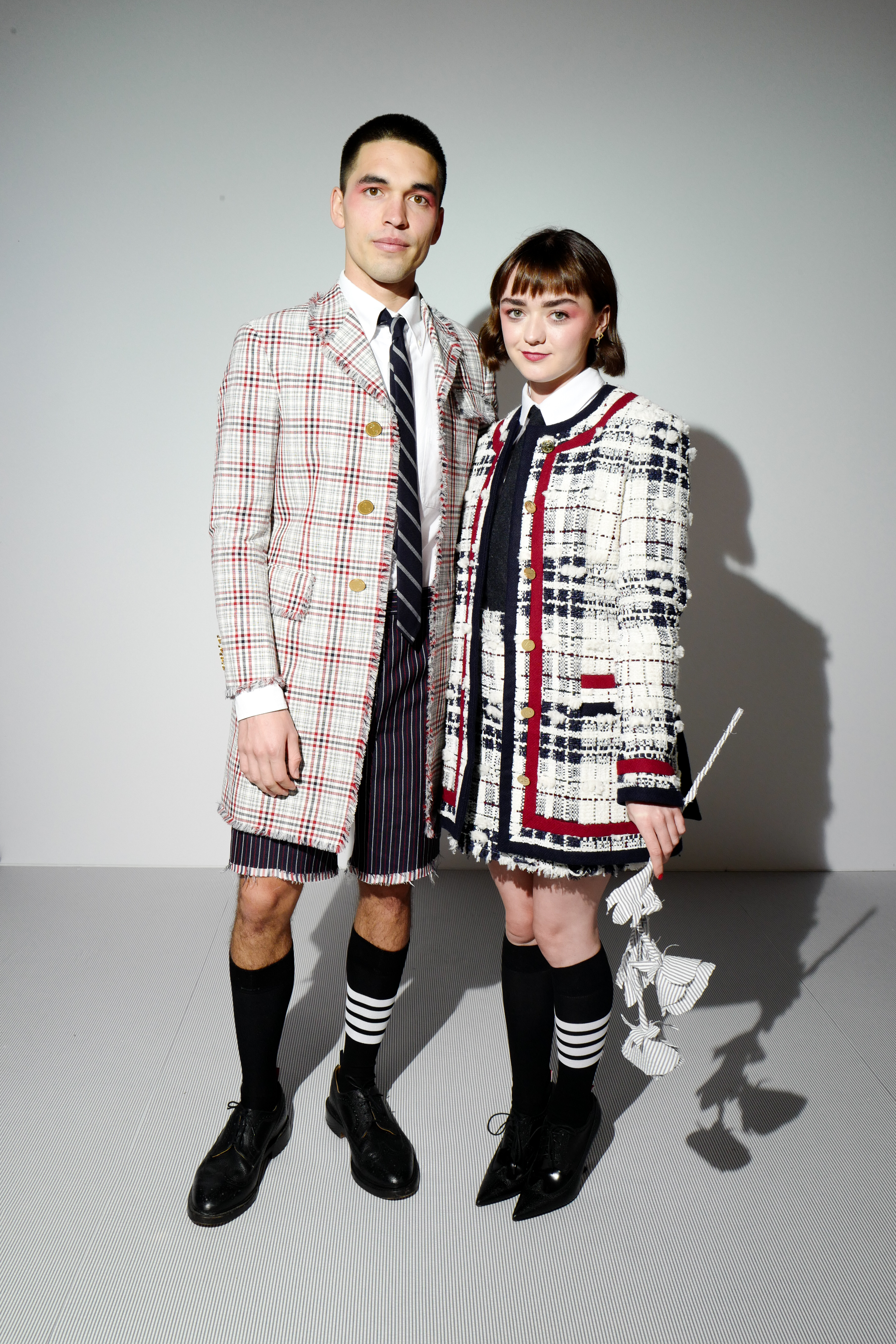 Reuben Selby and Maisie Williams
